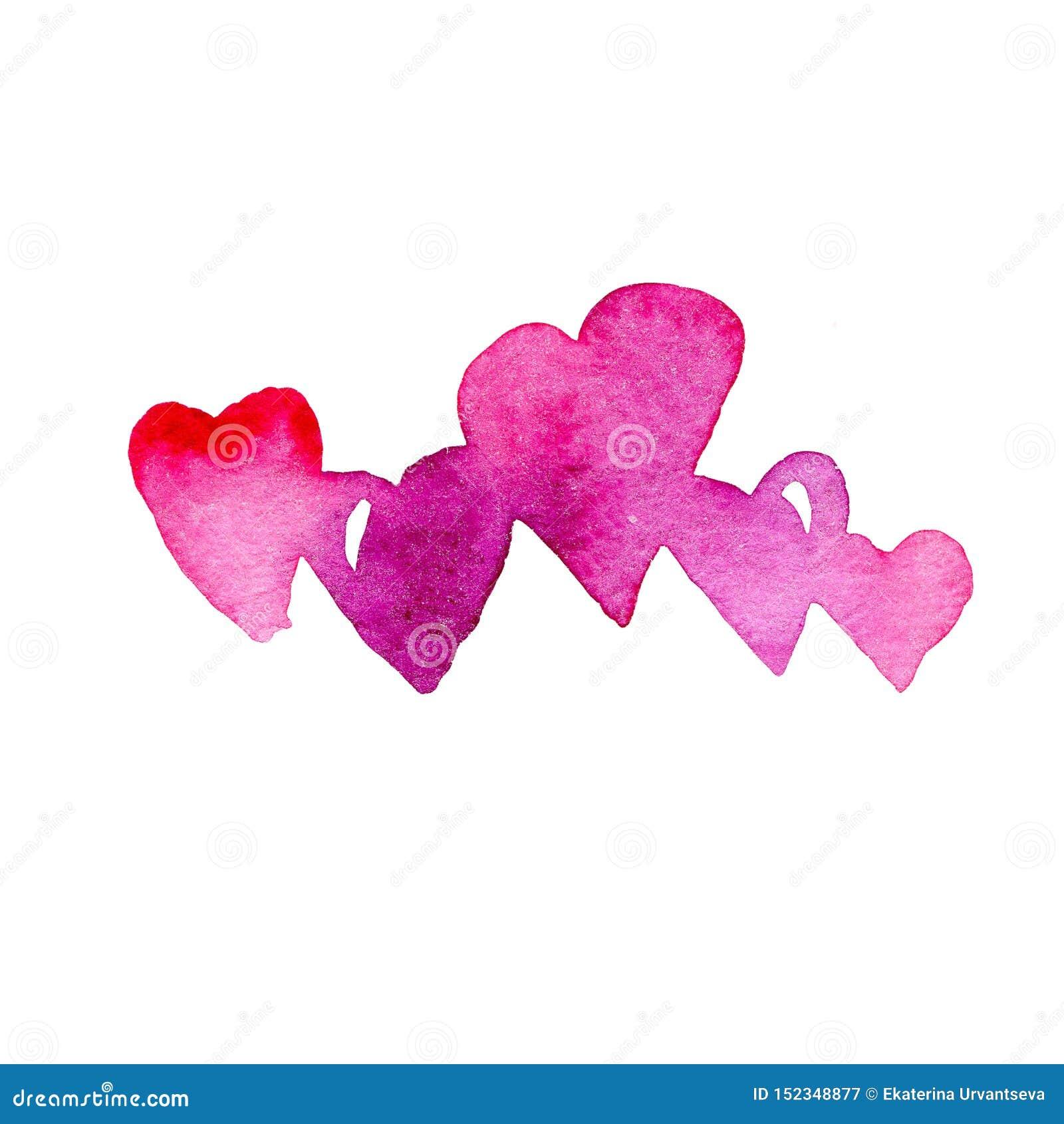Πορφυρός και οδοντώστε πέντε καρδιές r