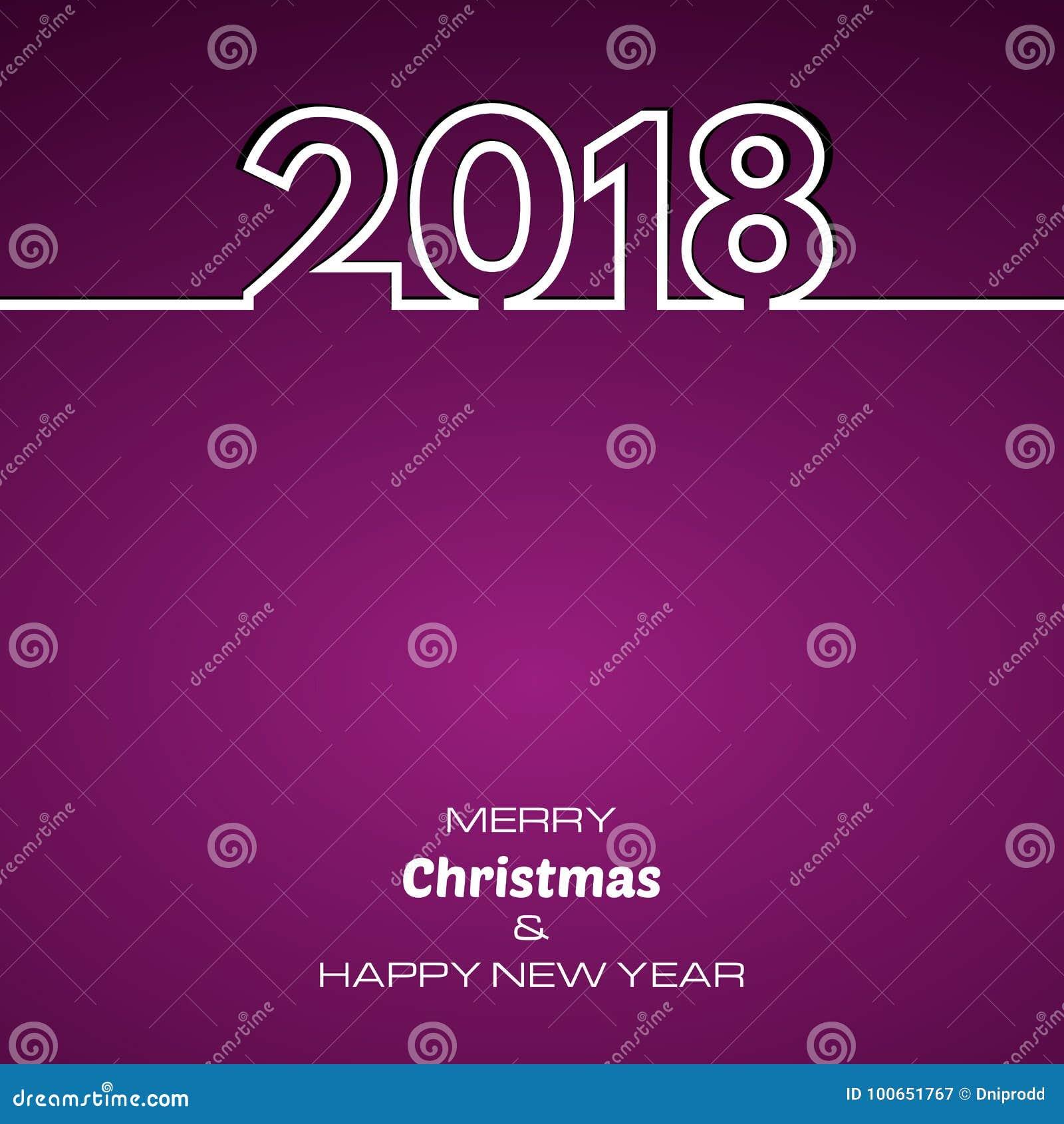 Πορφυρό υπόβαθρο καλής χρονιάς 2018