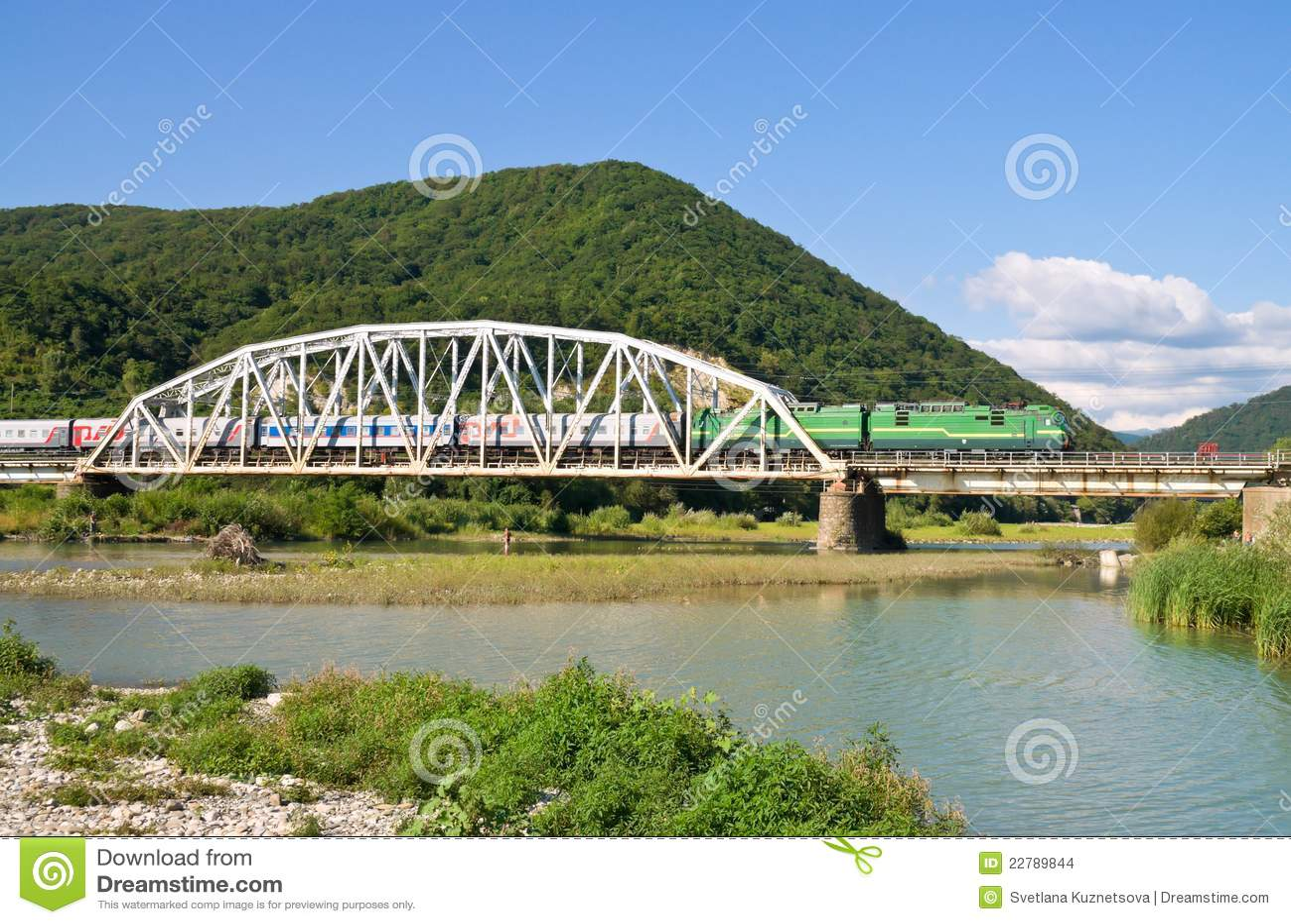ποταμός βουνών γεφυρών