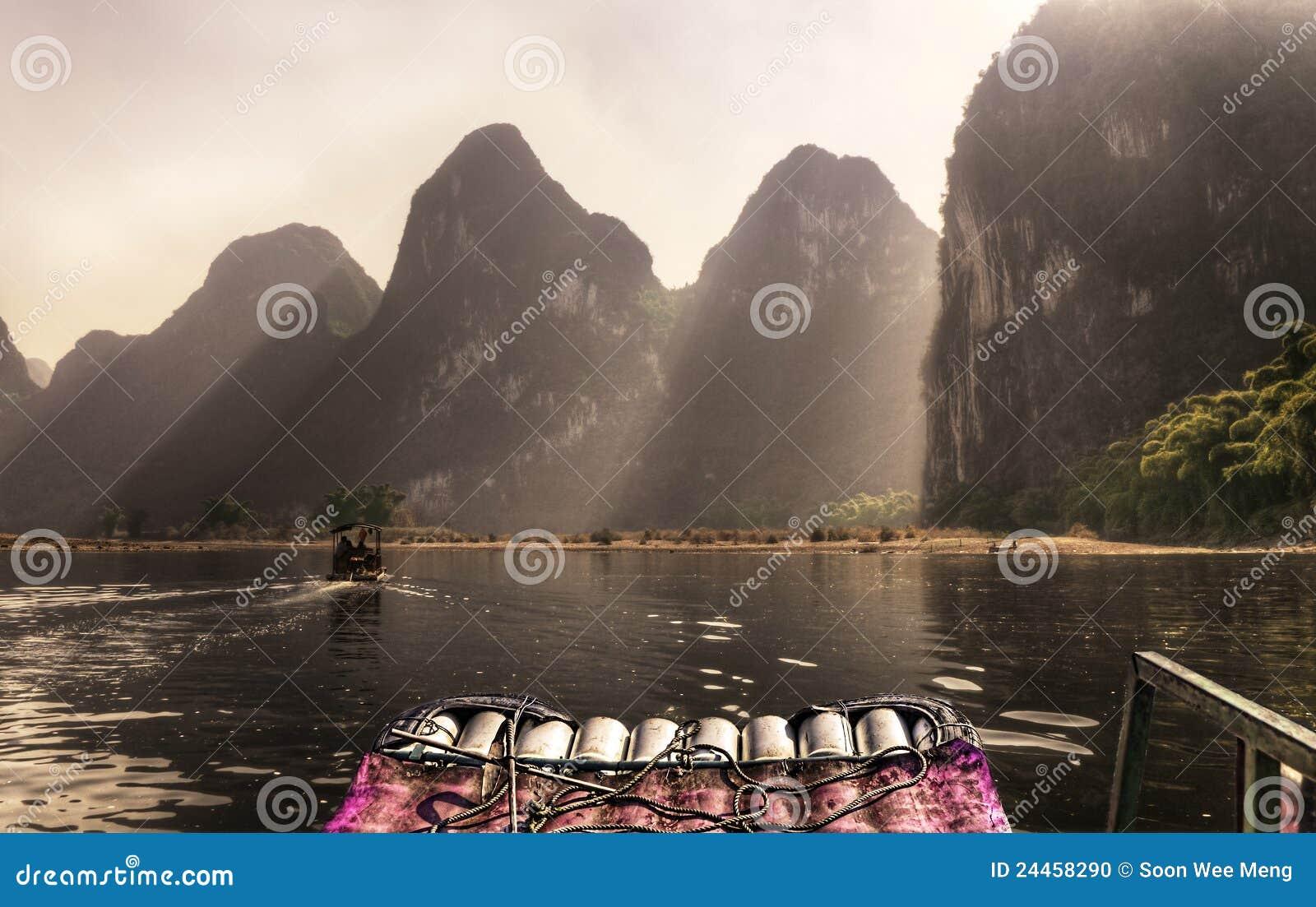 ποταμός λι guilin κρουαζιέρας της Κίνας