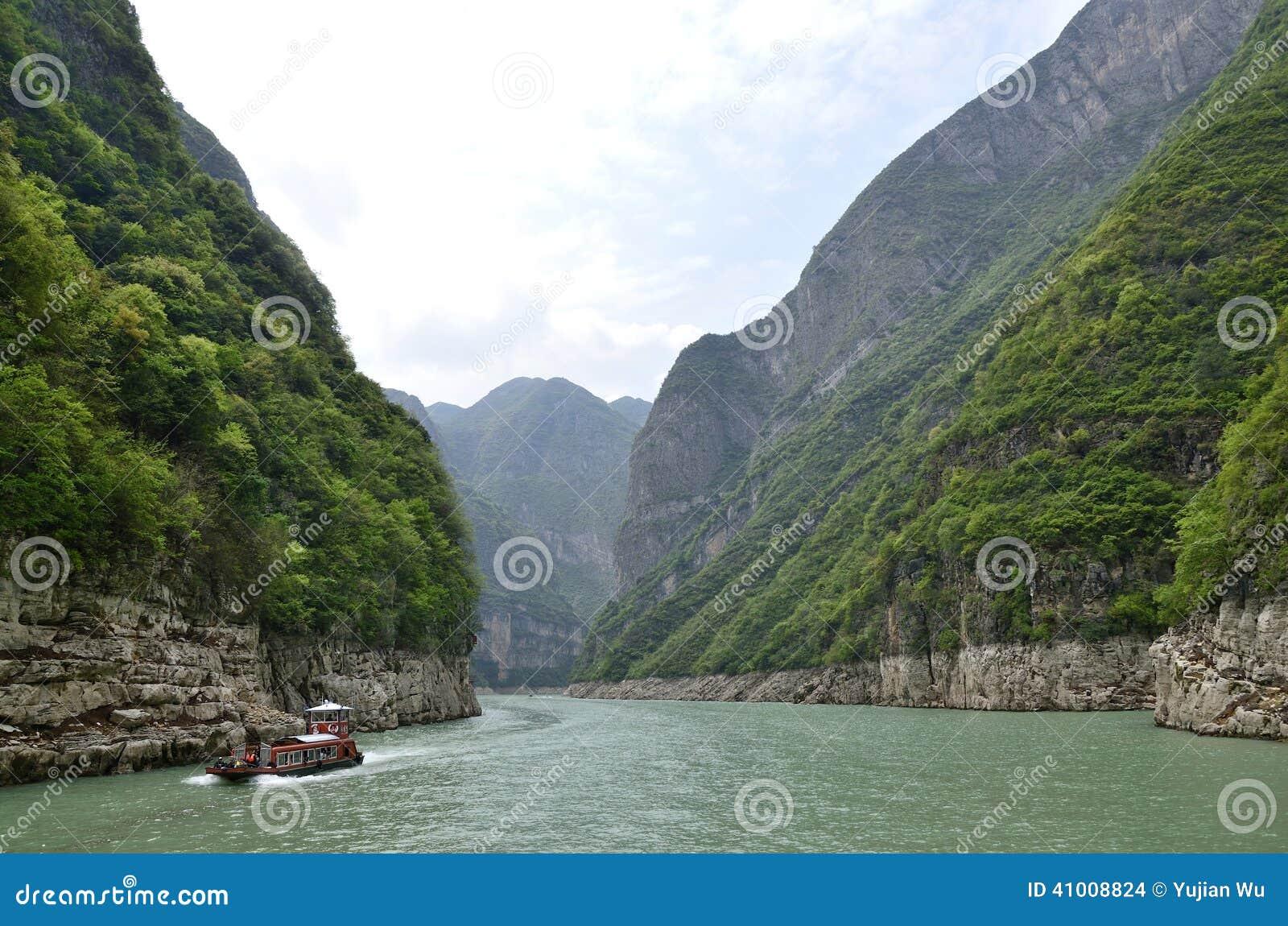 Ποταμός τρία της Κίνας Yangtze φυσική ουσία φαραγγιών