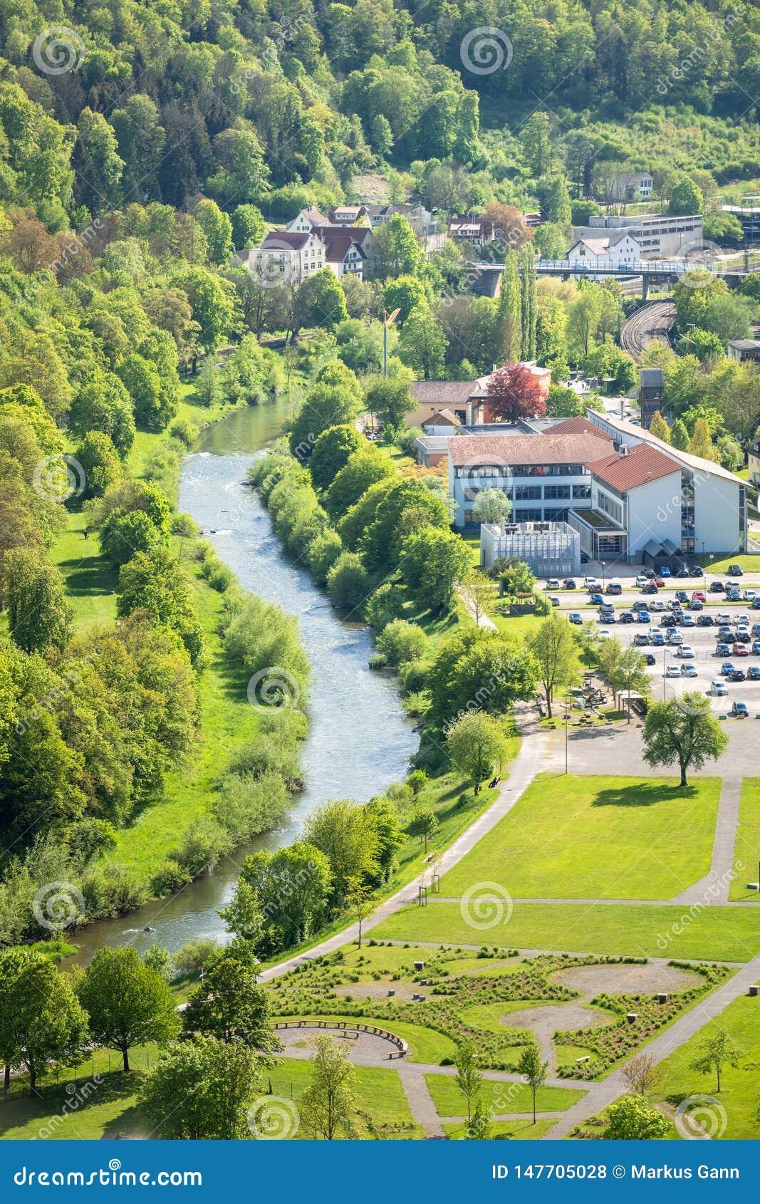 ποταμός Neckar σε Sulz Γερμανία