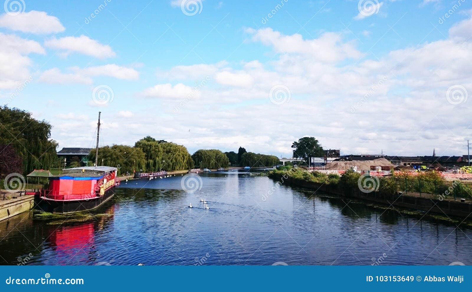 Ποταμός Nene Peterborough