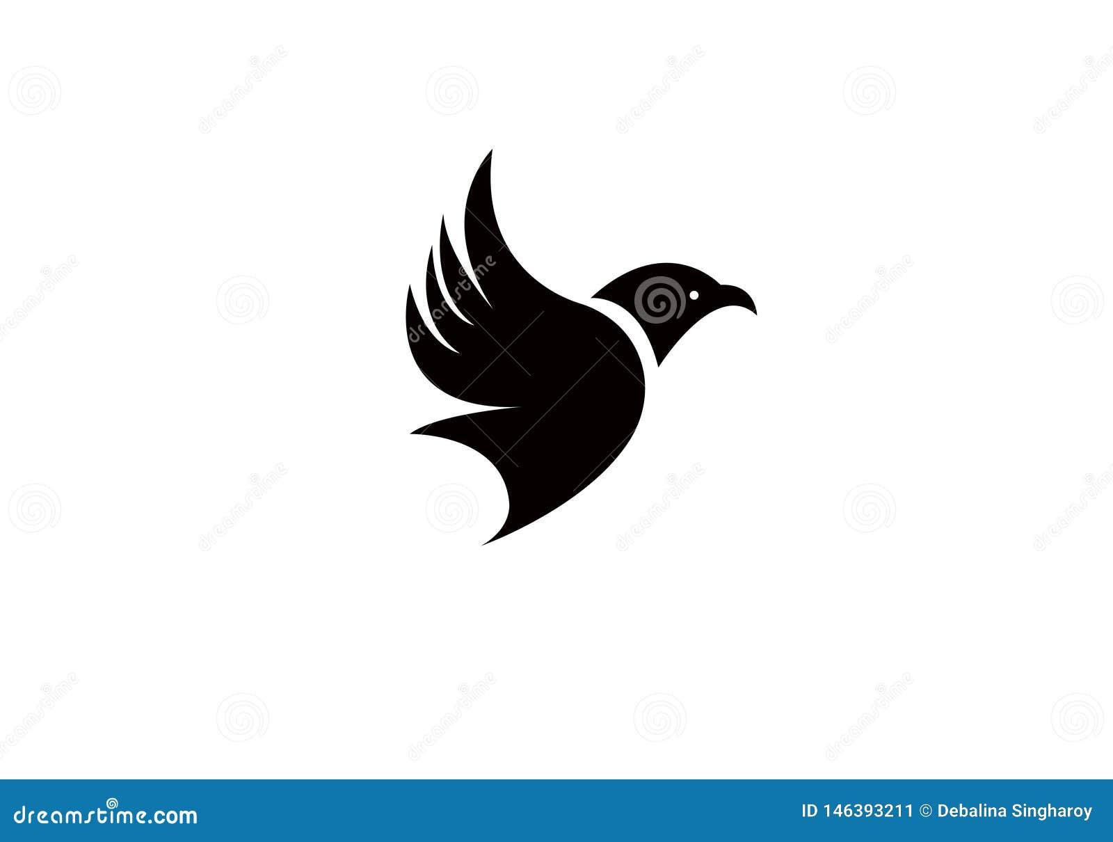 Πουλιών μυγών δημιουργική πολυτέλεια προτύπων Editable λογότυπων σύγχρονη απλή διανυσματική