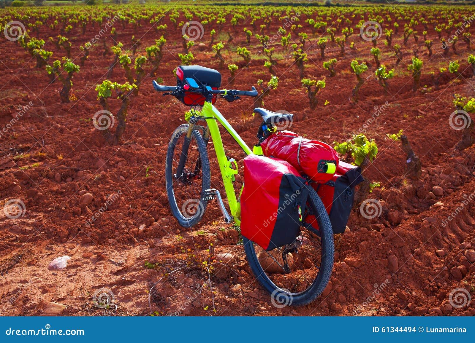 Ποδήλατο αμπελώνων Λα Rioja ο τρόπος Αγίου James