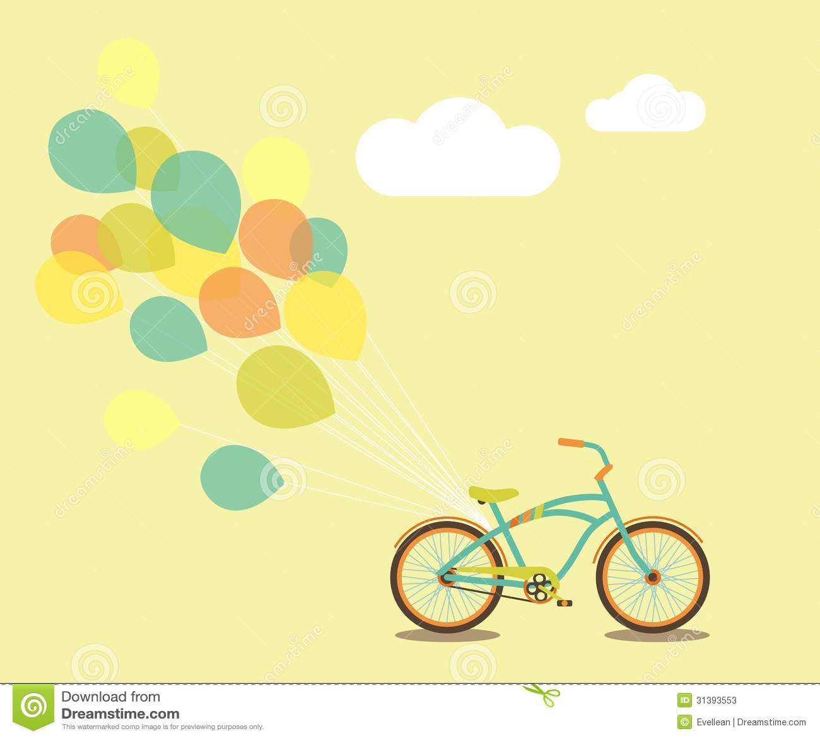 Ποδήλατο και μπαλόνια