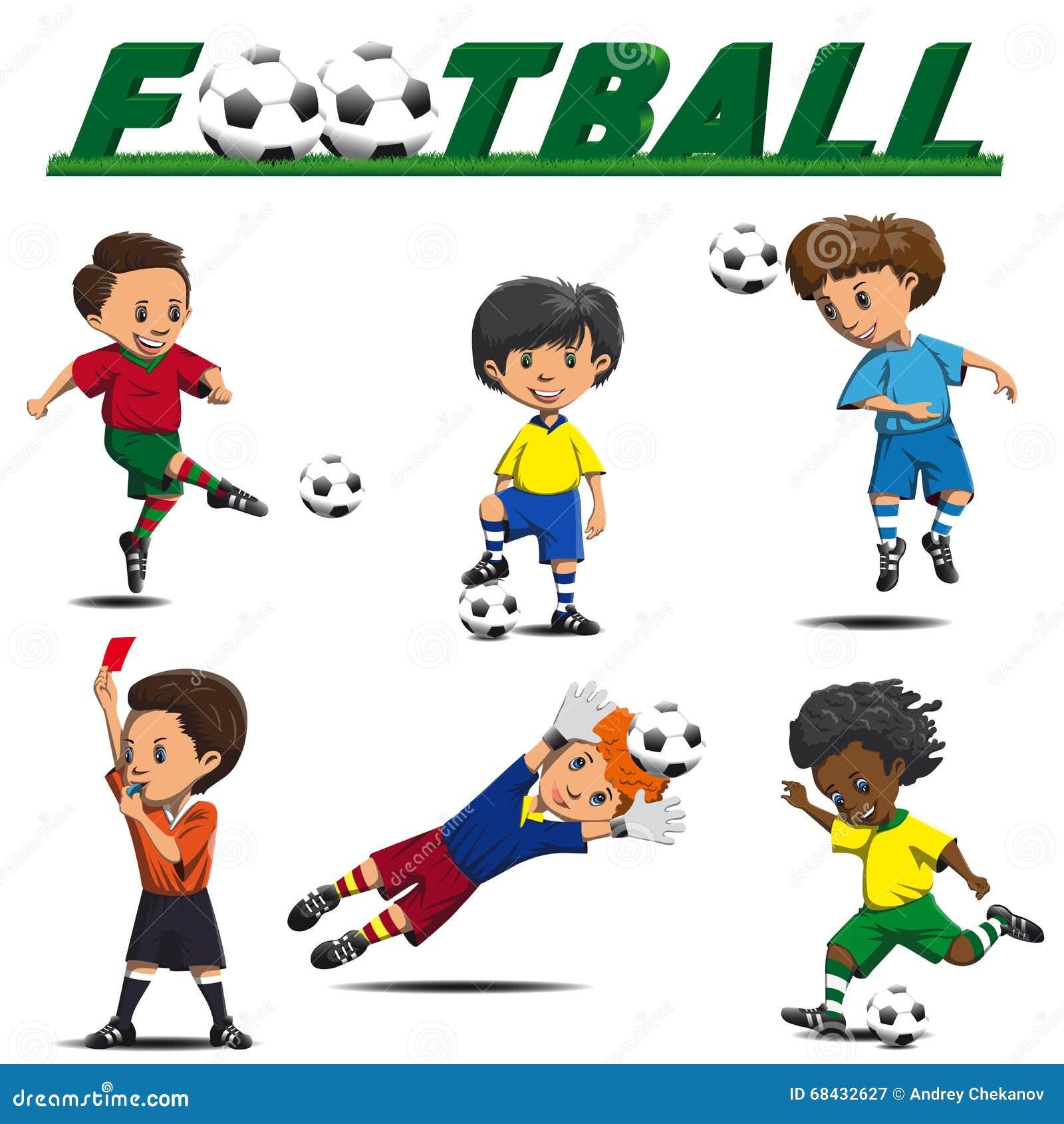 Ποδόσφαιρο και ποδοσφαιριστές από τις διαφορετικές ομάδες