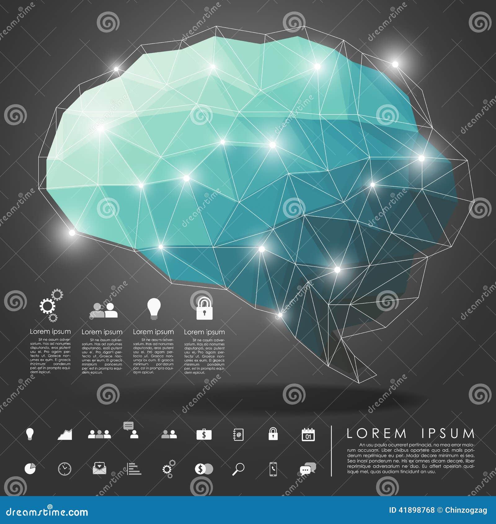 Πολύγωνο εγκεφάλου με το επιχειρησιακό εικονίδιο
