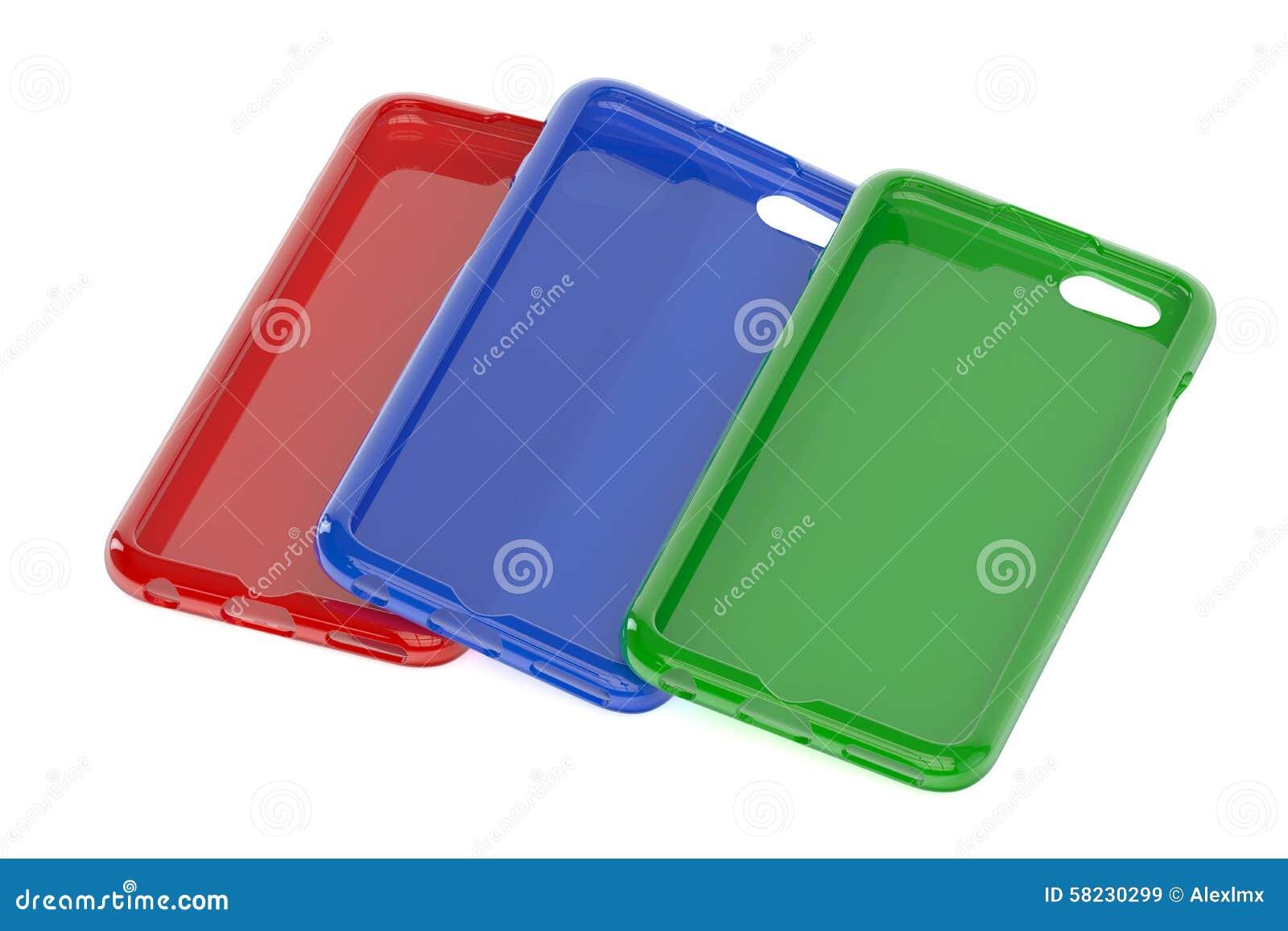 Πολύχρωμες κινητές τηλεφωνικές πλαστικές περιπτώσεις
