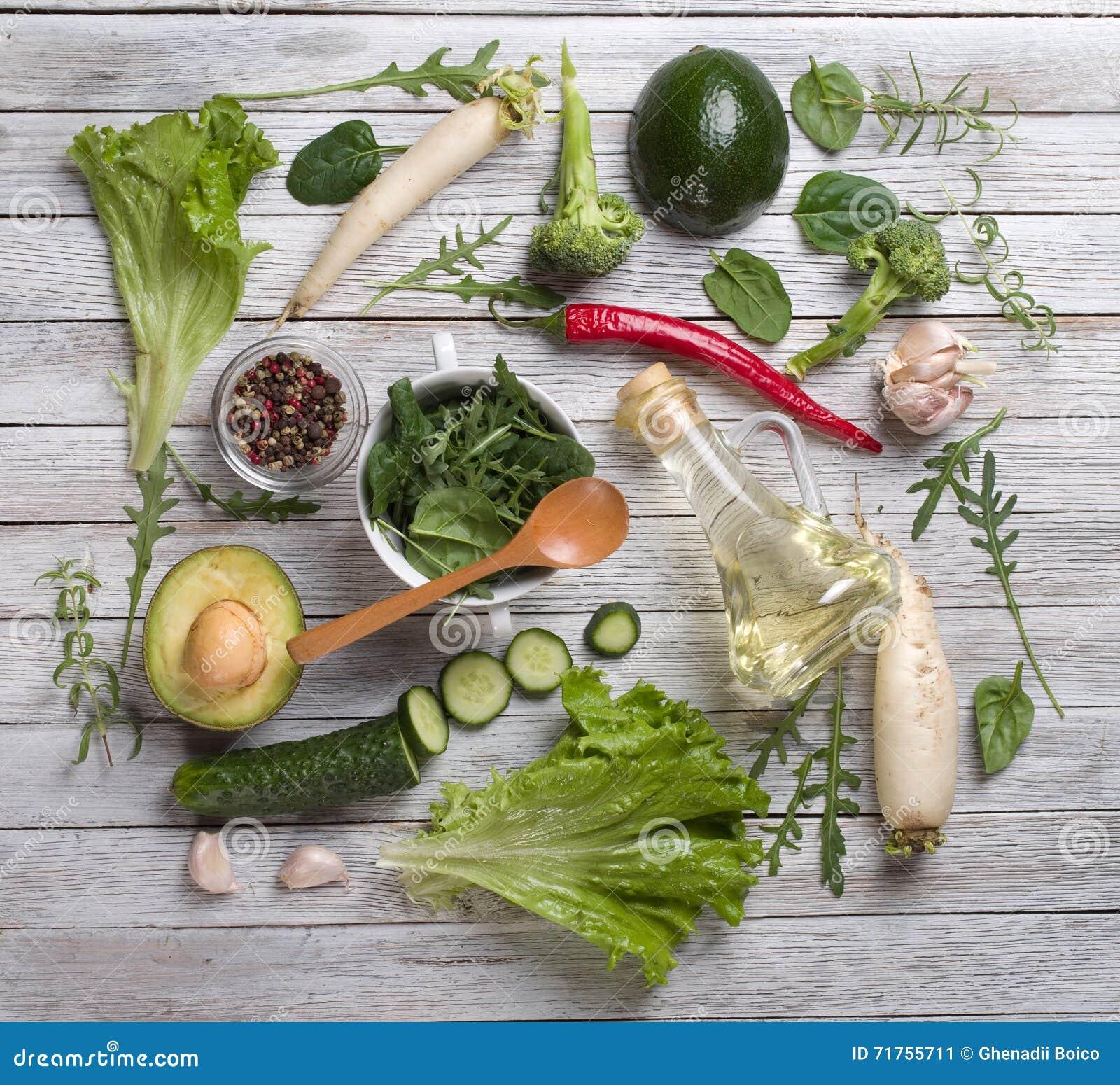 πράσινα λαχανικά μιγμάτων
