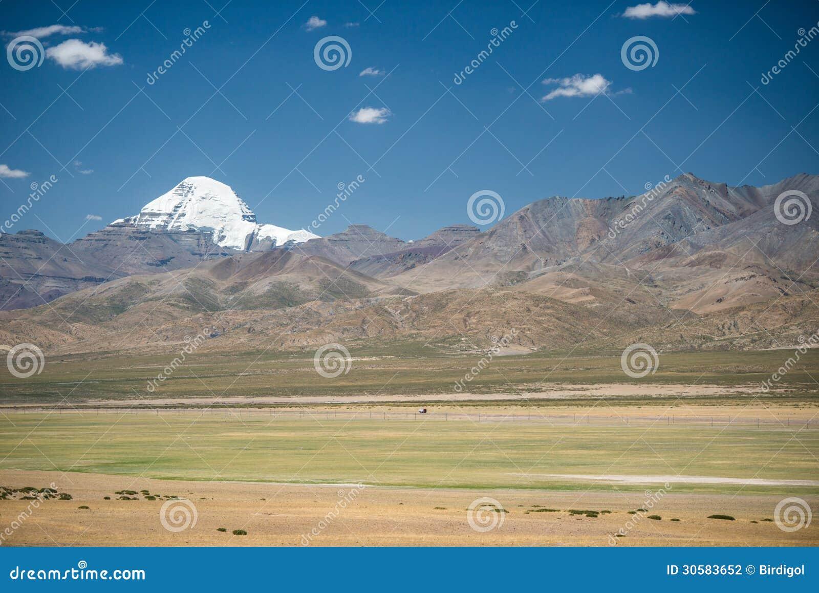 Πράσινα λιβάδι και Mt.Kailash, Θιβέτ