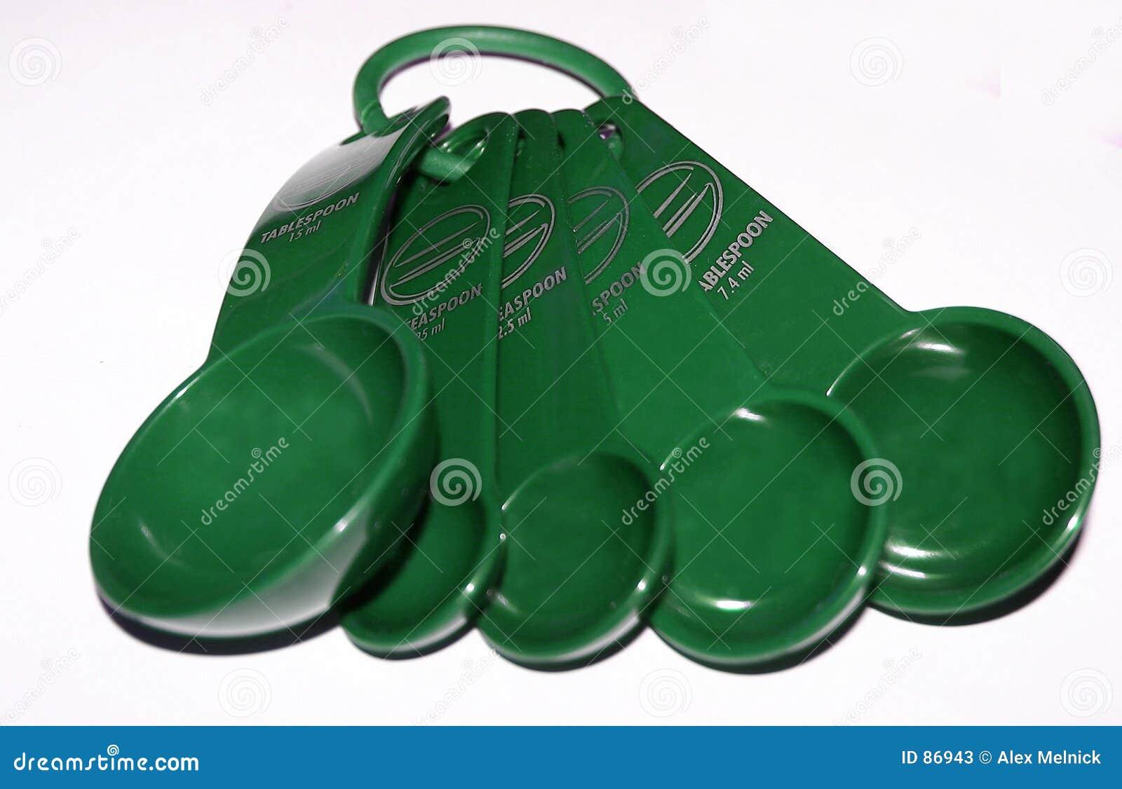 πράσινα μετρώντας κουτάλια