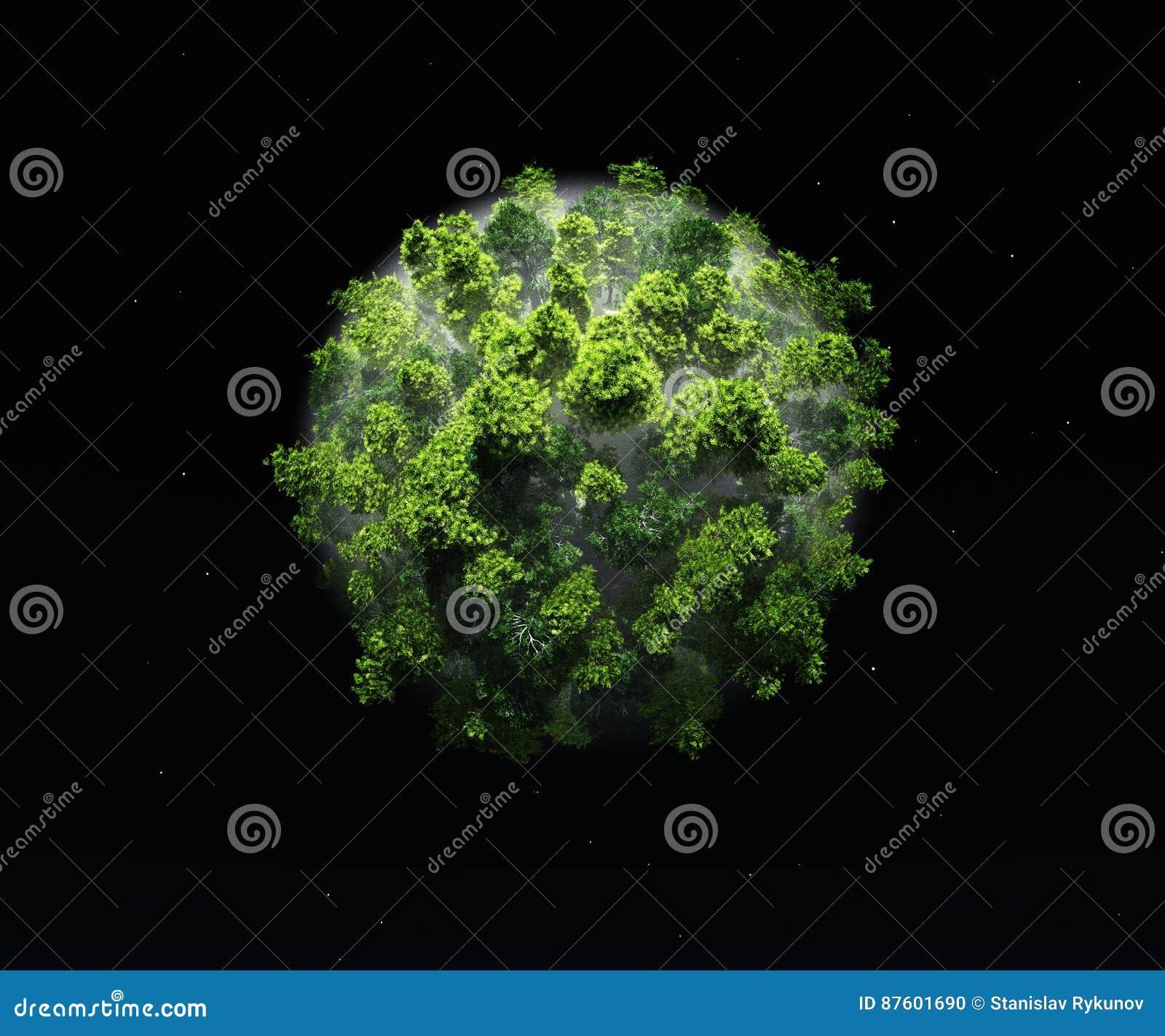 Πράσινες οικολογία και φύση πλανητών