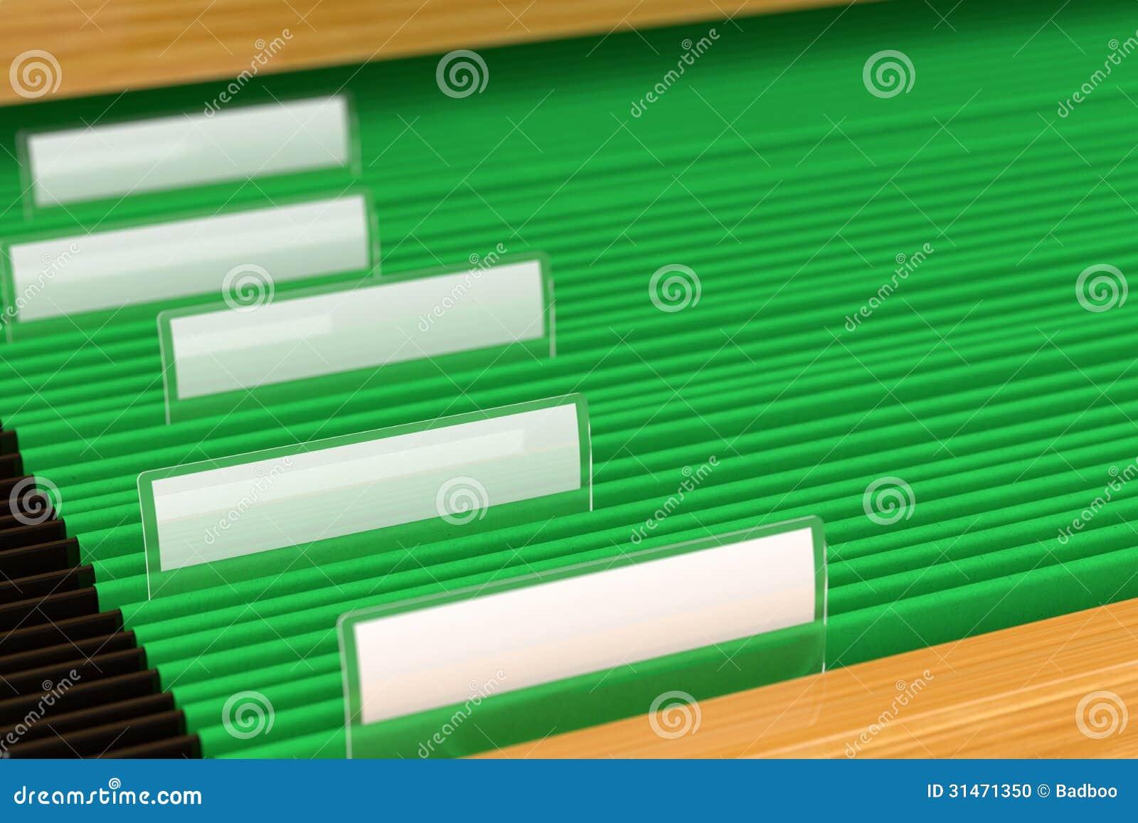 Πράσινοι φάκελλοι αρχείων