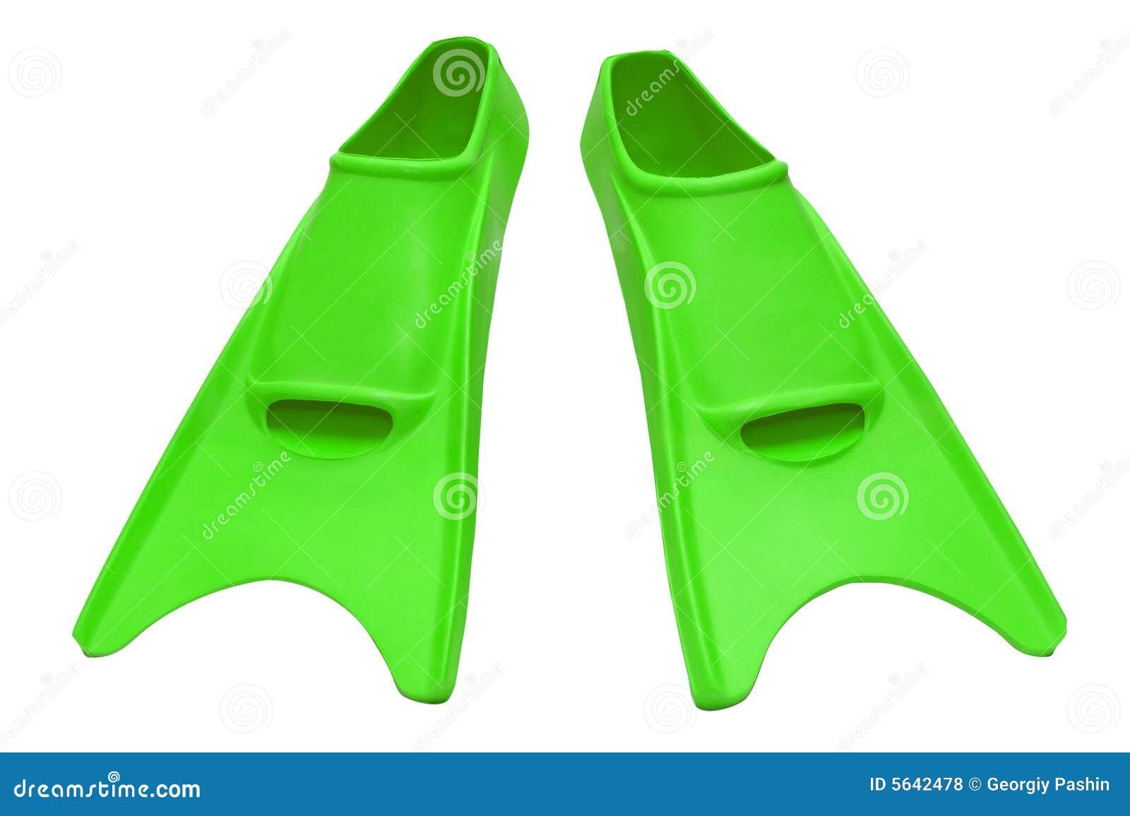 πράσινος βατραχοπέδιλων που απομονώνεται