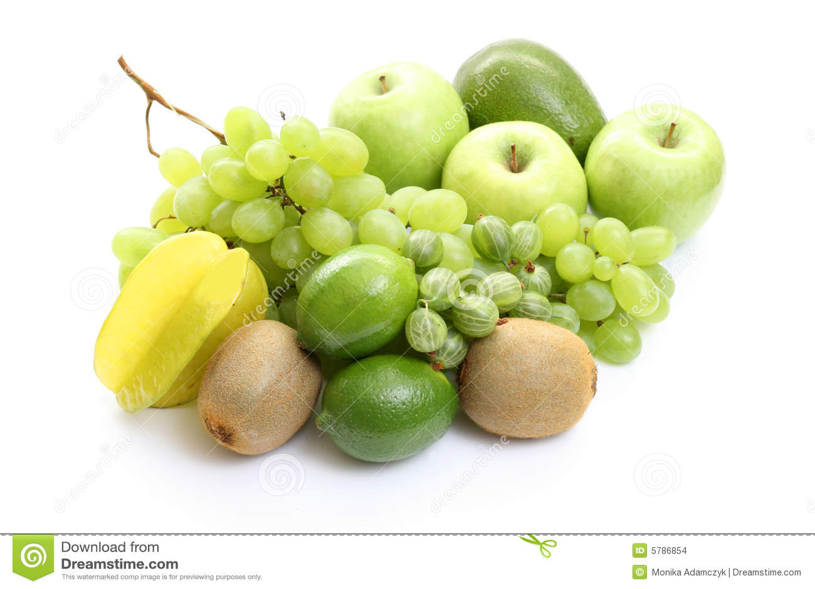 πράσινος διάφορος καρπών