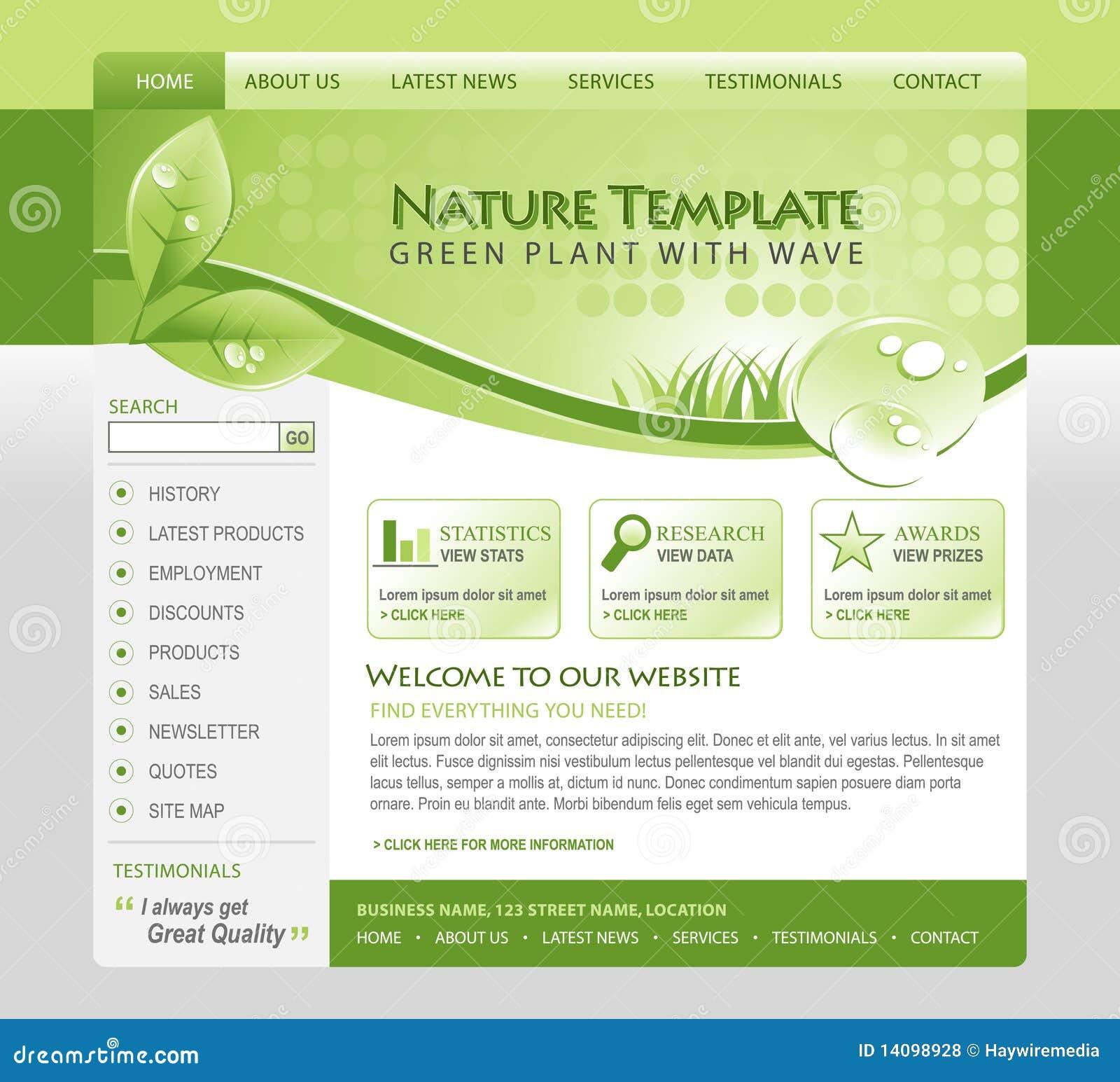πράσινος Ιστός προτύπων φύσ&eta