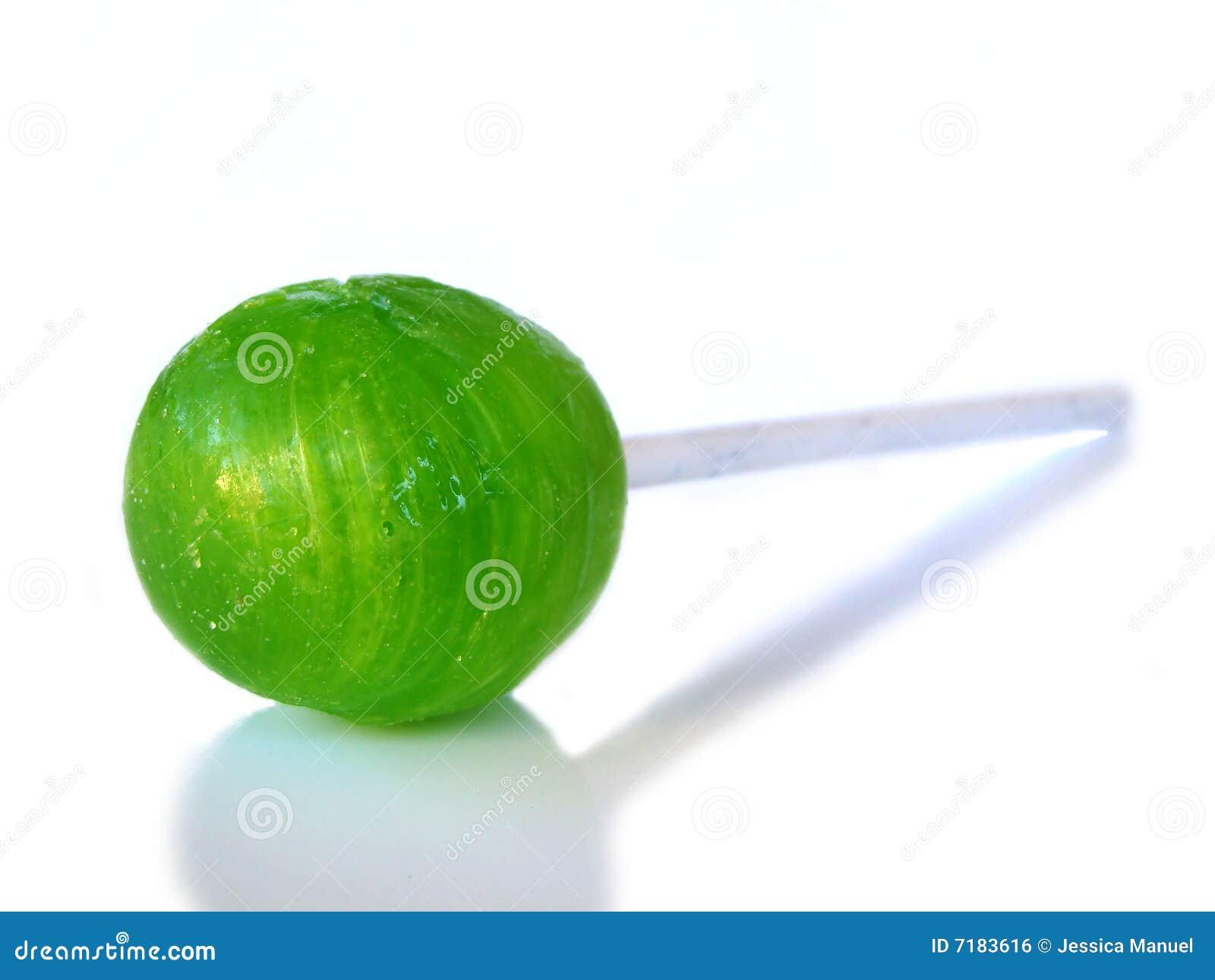 πράσινο απομονωμένο sucker