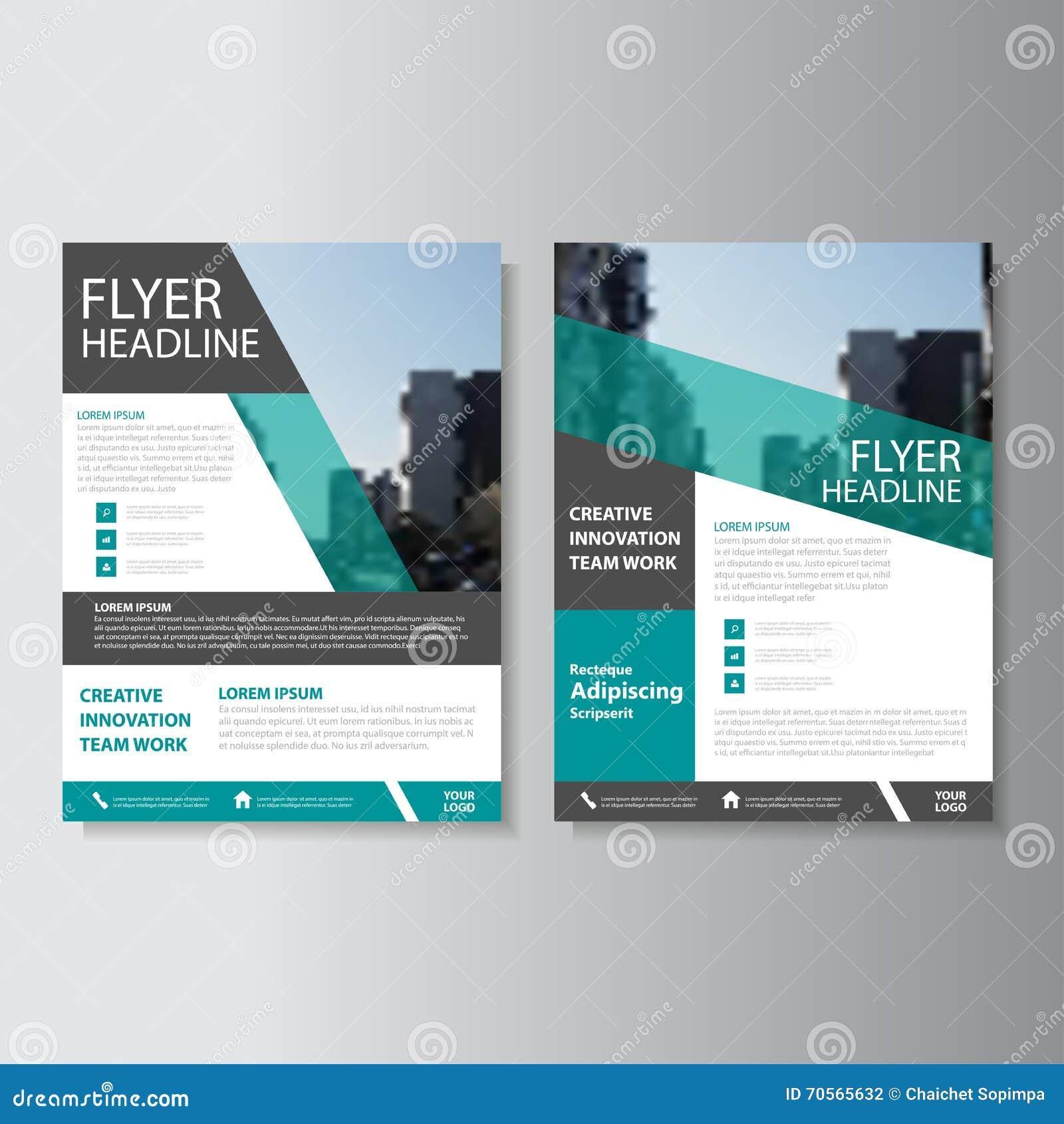 Πράσινο διανυσματικό σχέδιο προτύπων ιπτάμενων φυλλάδιων φυλλάδιων ετήσια εκθέσεων, σχέδιο σχεδιαγράμματος κάλυψης βιβλίων, αφηρη