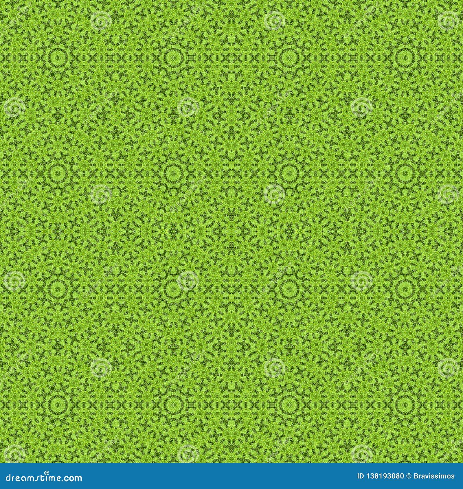 Πράσινο καλειδοσκόπιο συμμετρίας υποβάθρου σχεδίων backfill