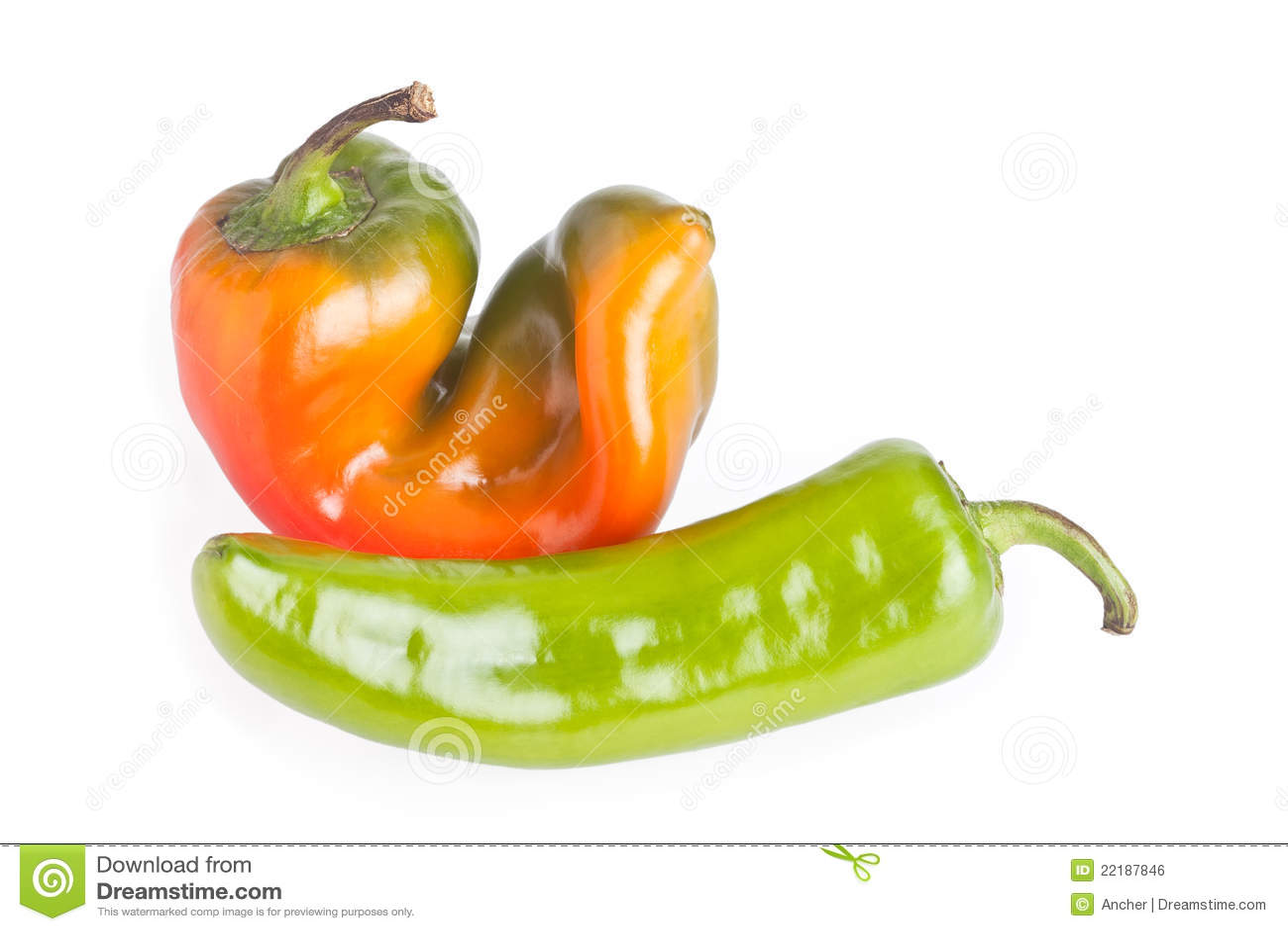 πράσινο κόκκινο πιπεριών
