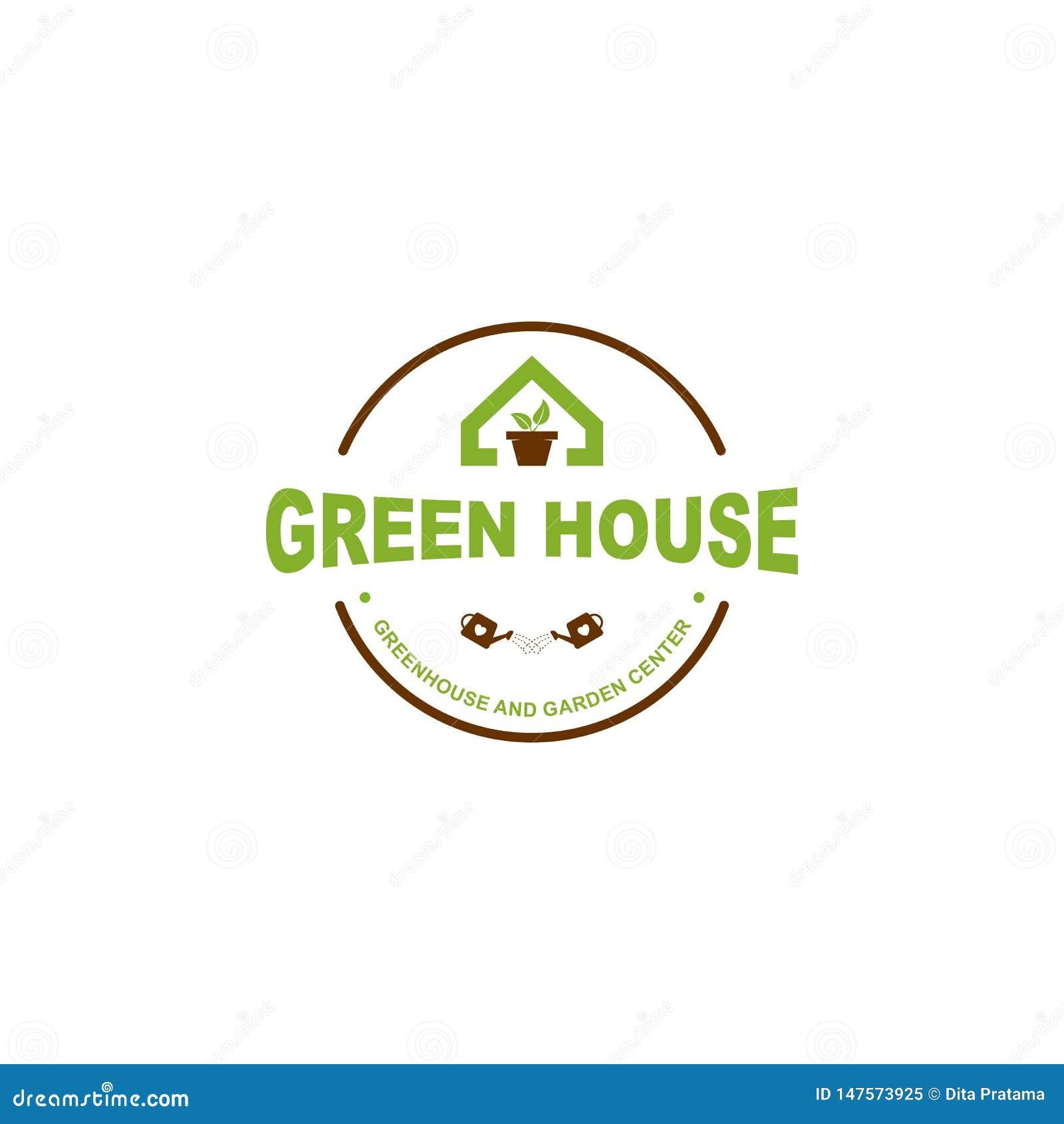 Πράσινο λογότυπο σπιτιών