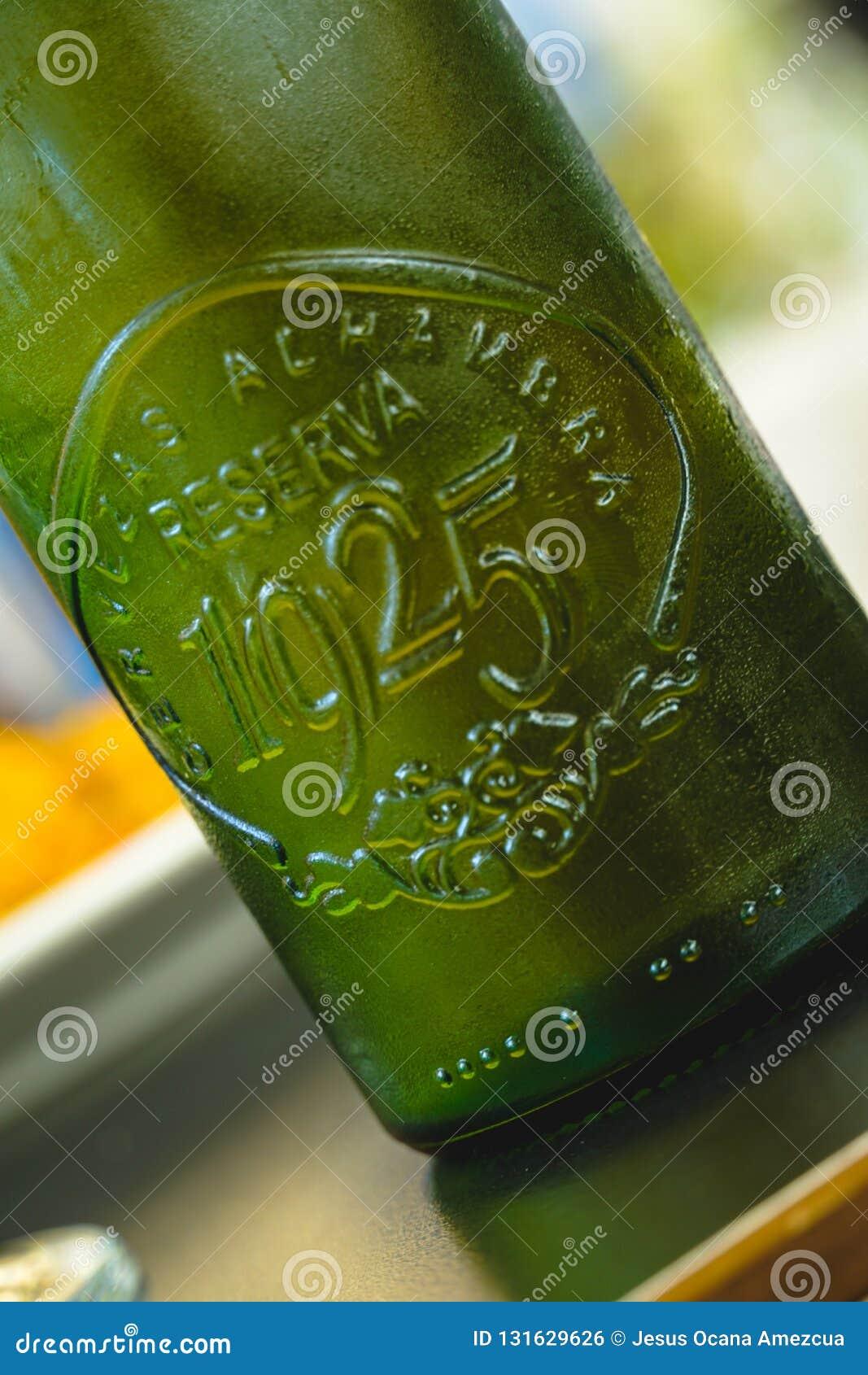 Πράσινο μπουκάλι μπύρας alhambra 1925