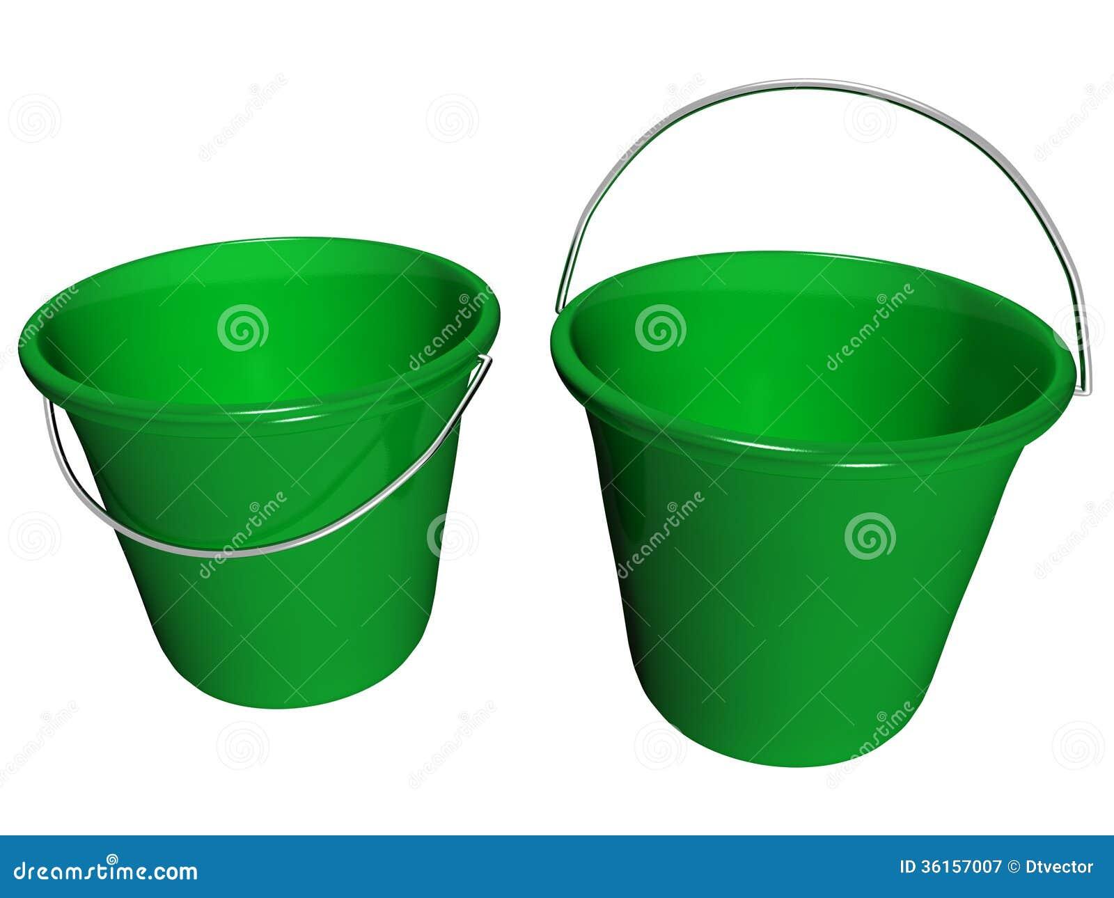 Πράσινο, μπροστινό μισό κάδων μέσα σε View_Raster