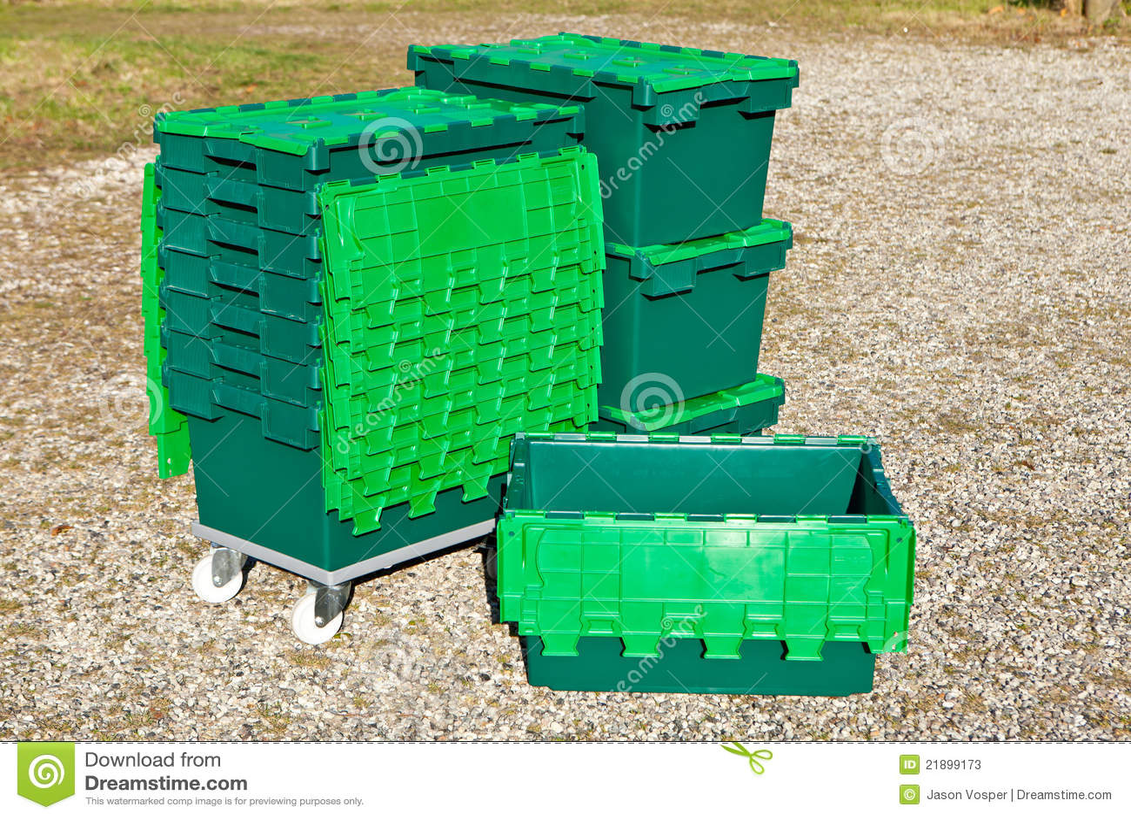πράσινο πλαστικό κιβωτίων