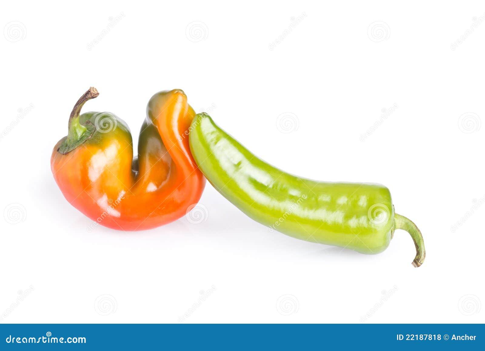 πράσινο πορτοκαλί πιπέρι