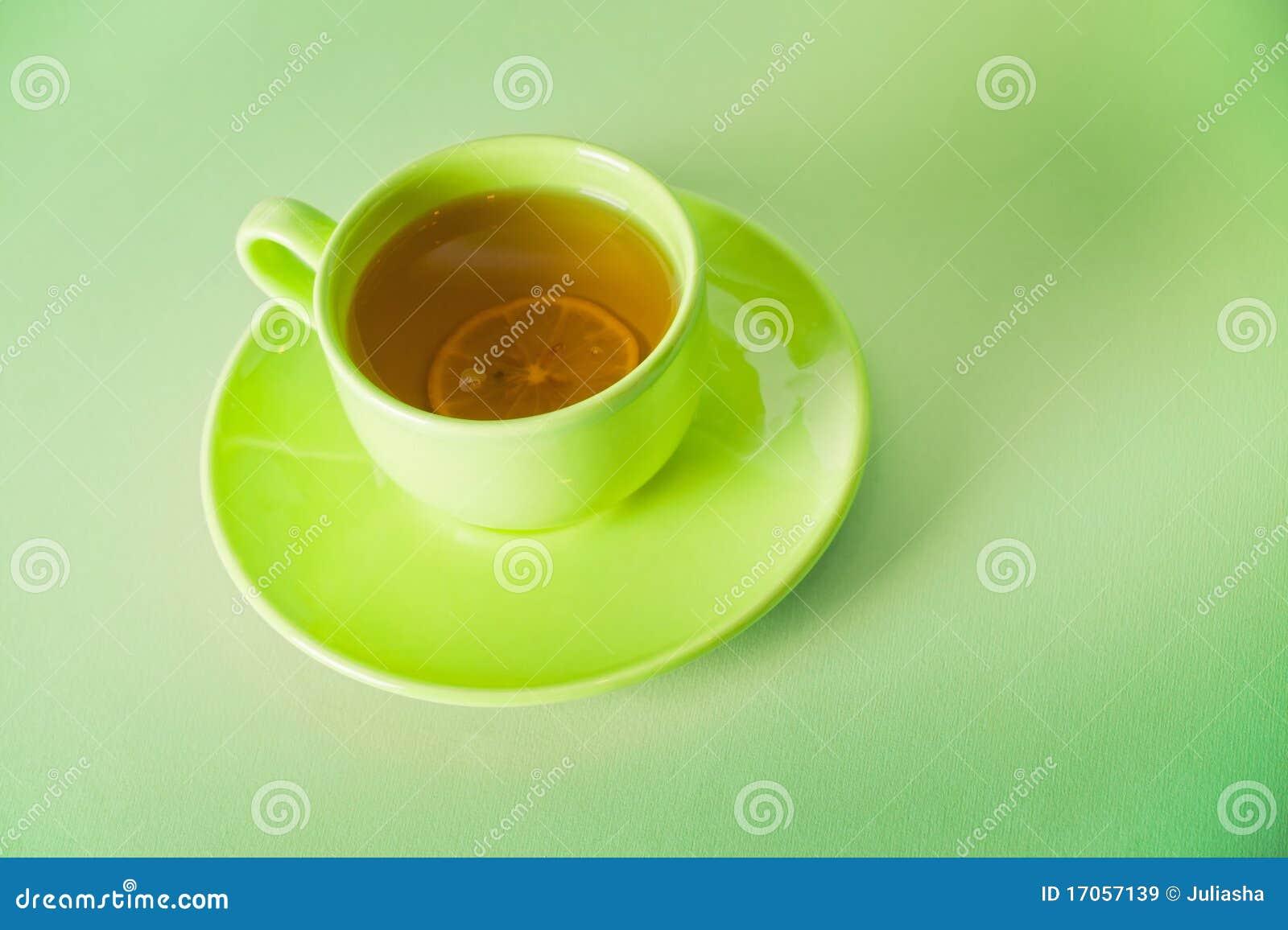 πράσινο τσάι φλυτζανιών