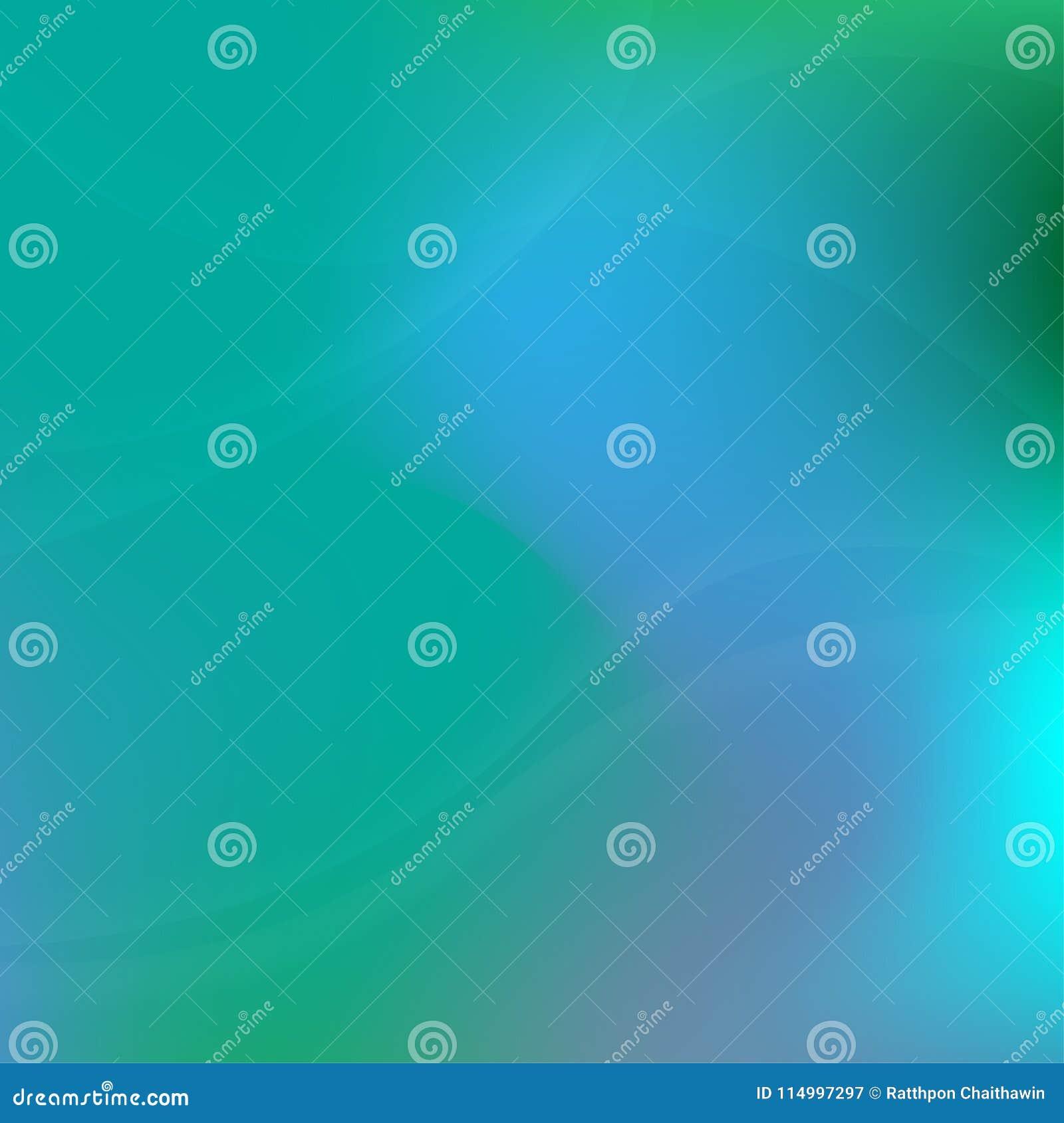 Πράσινο φως και μπλε αφηρημένο υπόβαθρο