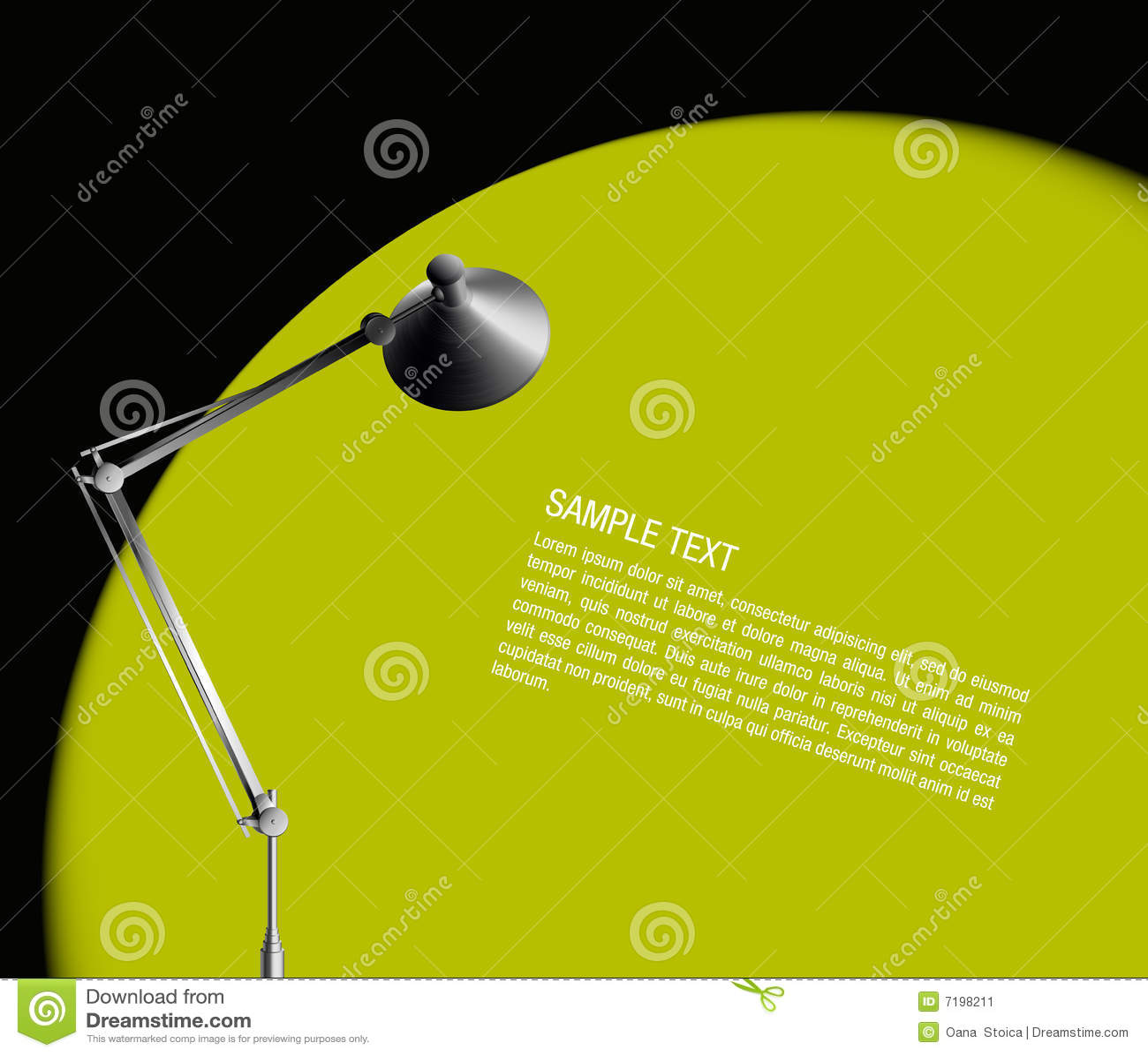 πράσινο φως λαμπτήρων γραφ&e