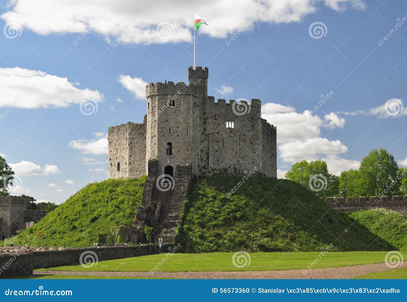 Download Προαύλιο του κάστρου του Κάρντιφ Στοκ Εικόνες - εικόνα από πέτρα, ancientness: 56573360