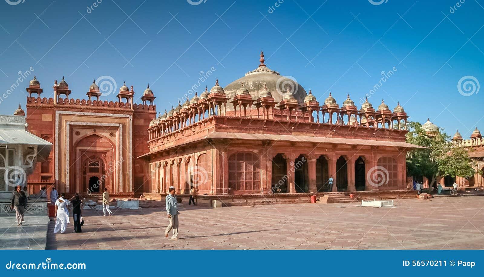 Download Προαύλιο Sikri Fatehpur εκδοτική εικόνες. εικόνα από έλξη - 56570211