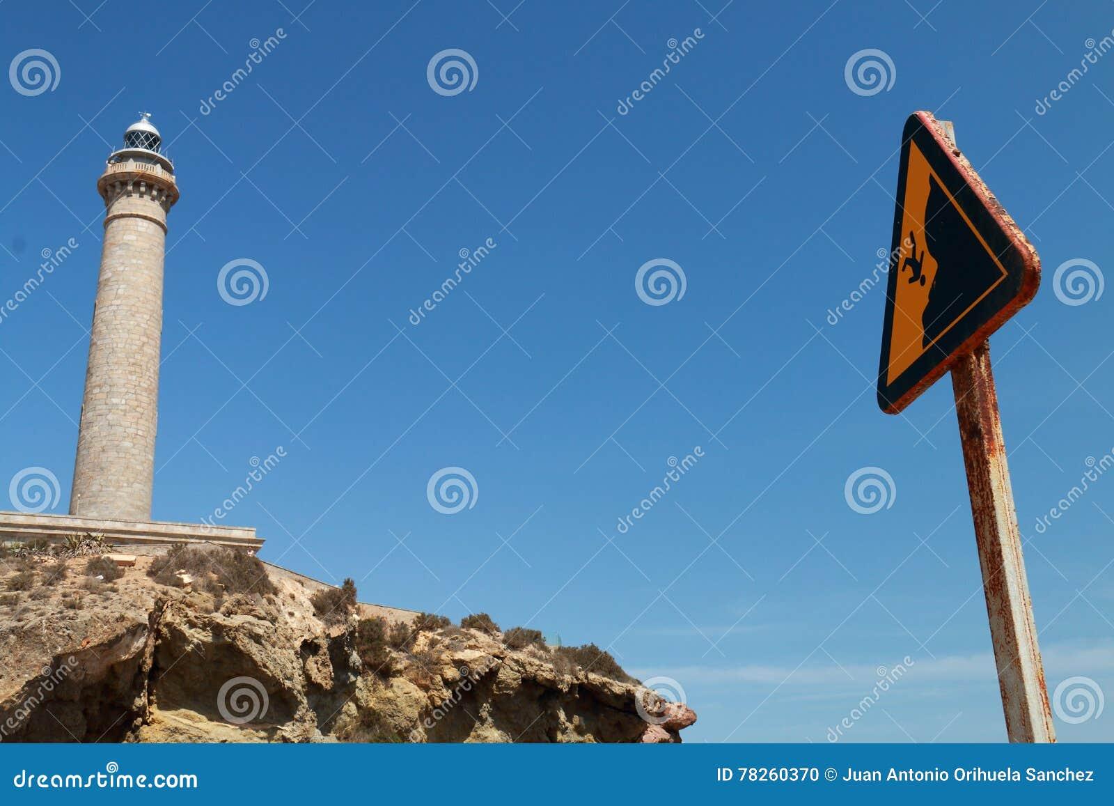 Προειδοποιητικό σημάδι από την πτώση απότομων βράχων