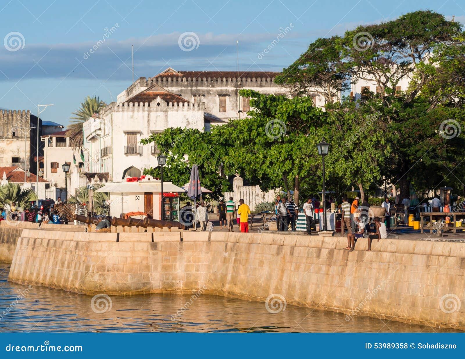 Προκυμαία στην πέτρινη πόλη, Zanzibar, Τανζανία