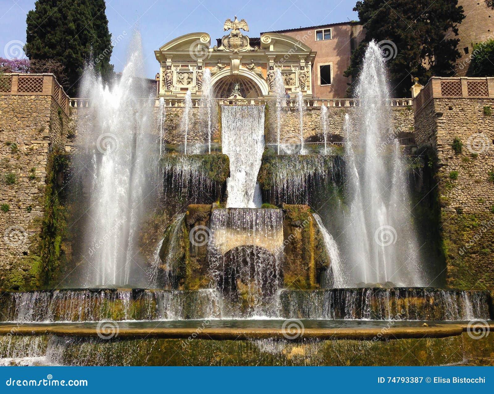 Προορισμός δ ` Este Tivoli βιλών δημοφιλέστερος διακινούμενος στο Λάτσιο