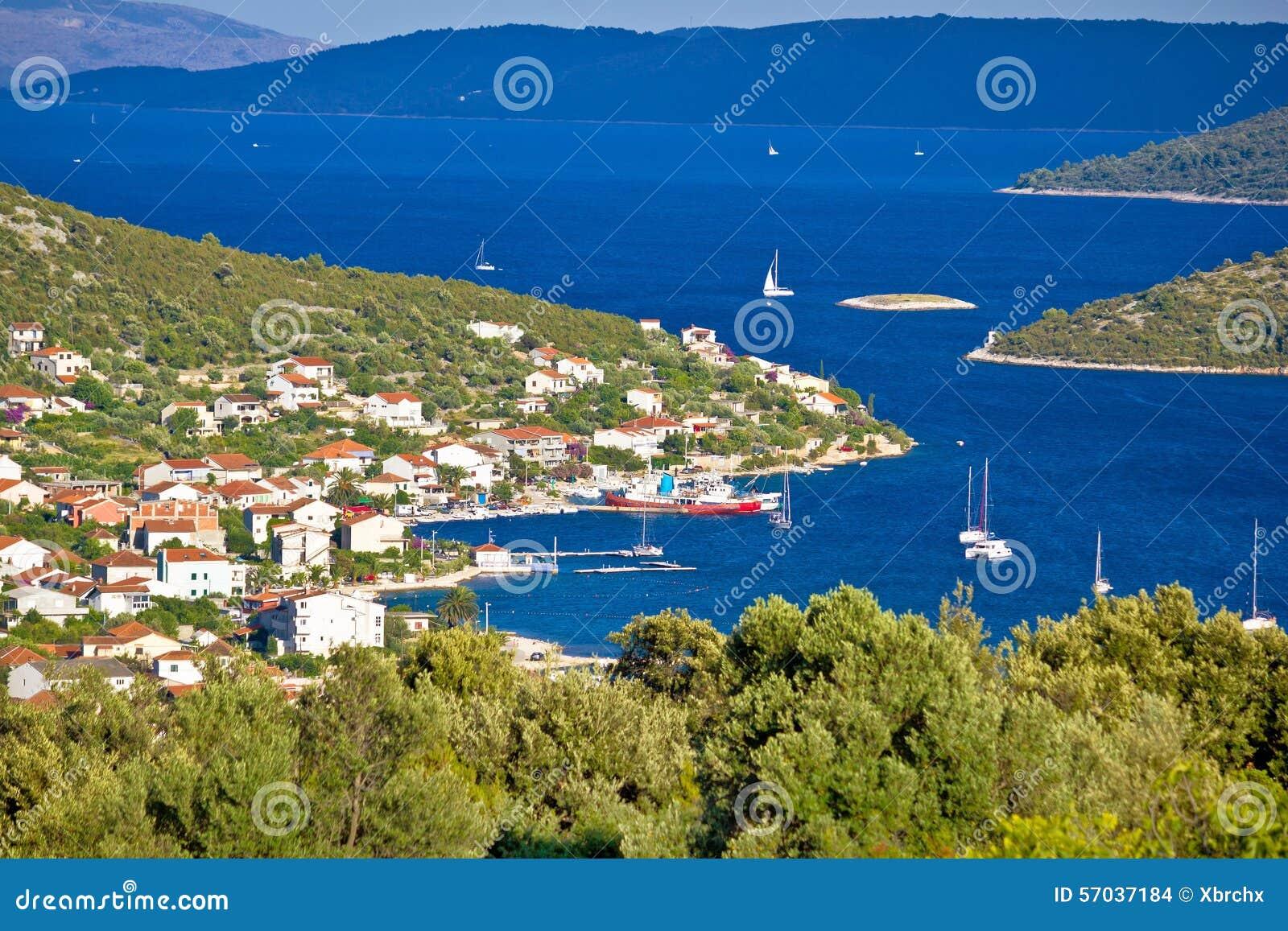 Προορισμός ναυσιπλοΐας του χωριού κόλπων Vinisce