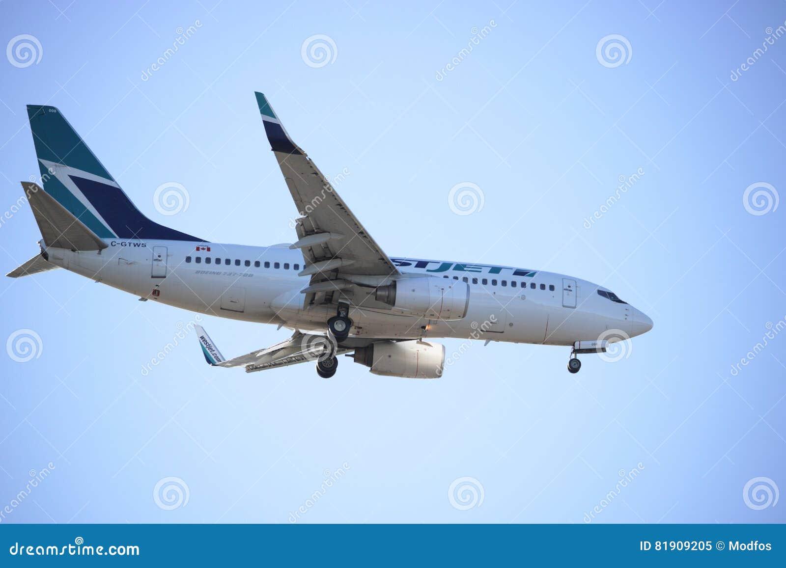 Προσγείωση επιβατικών αεροπλάνων Westjet