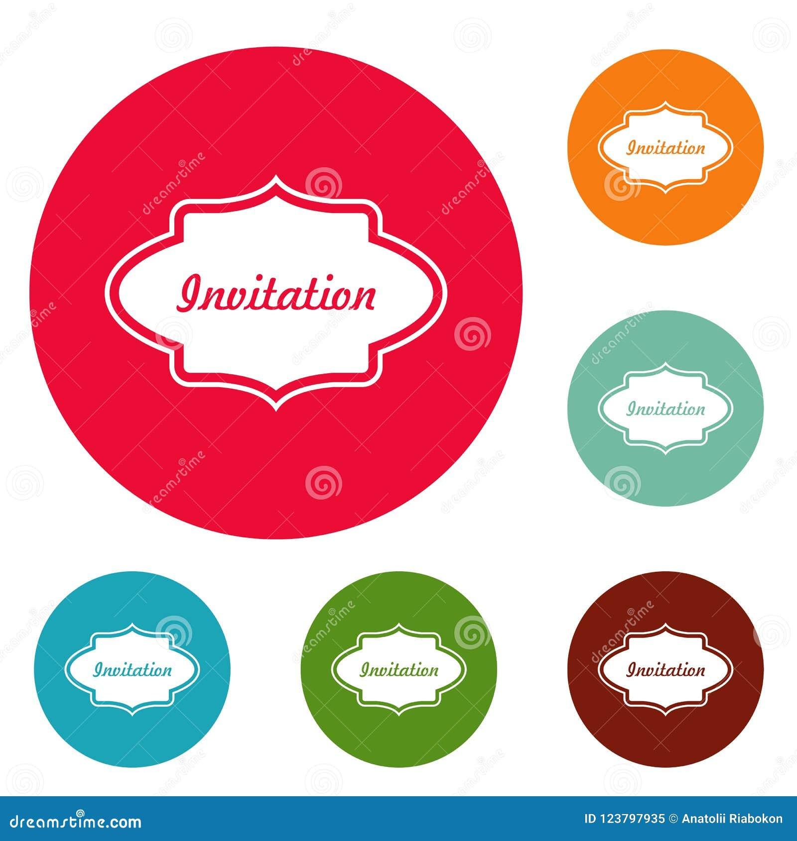 Προσκαλέστε το σύνολο κύκλων εικονιδίων ετικετών