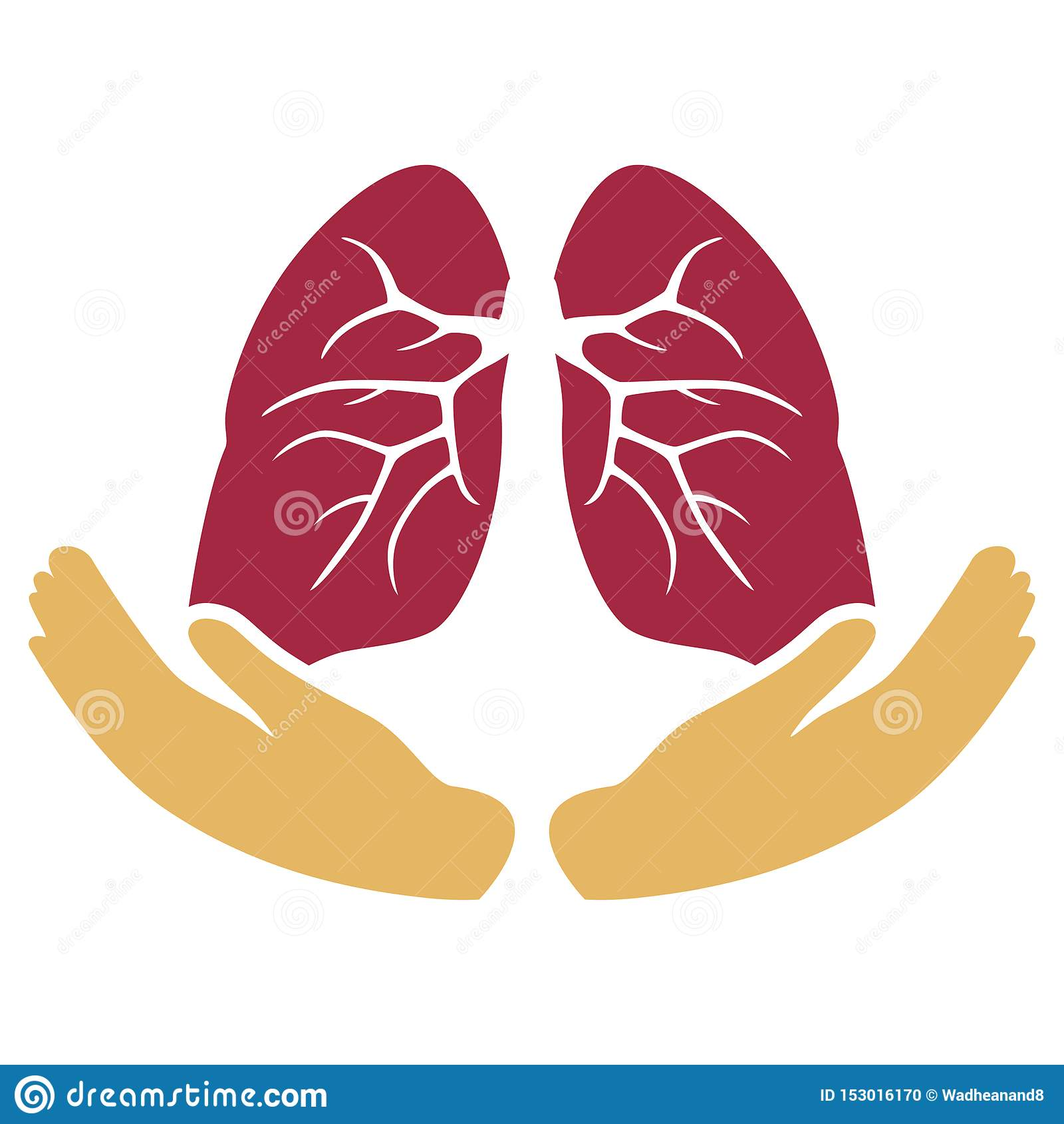 Προσοχή πνευμόνων με το σύμβολο χεριών