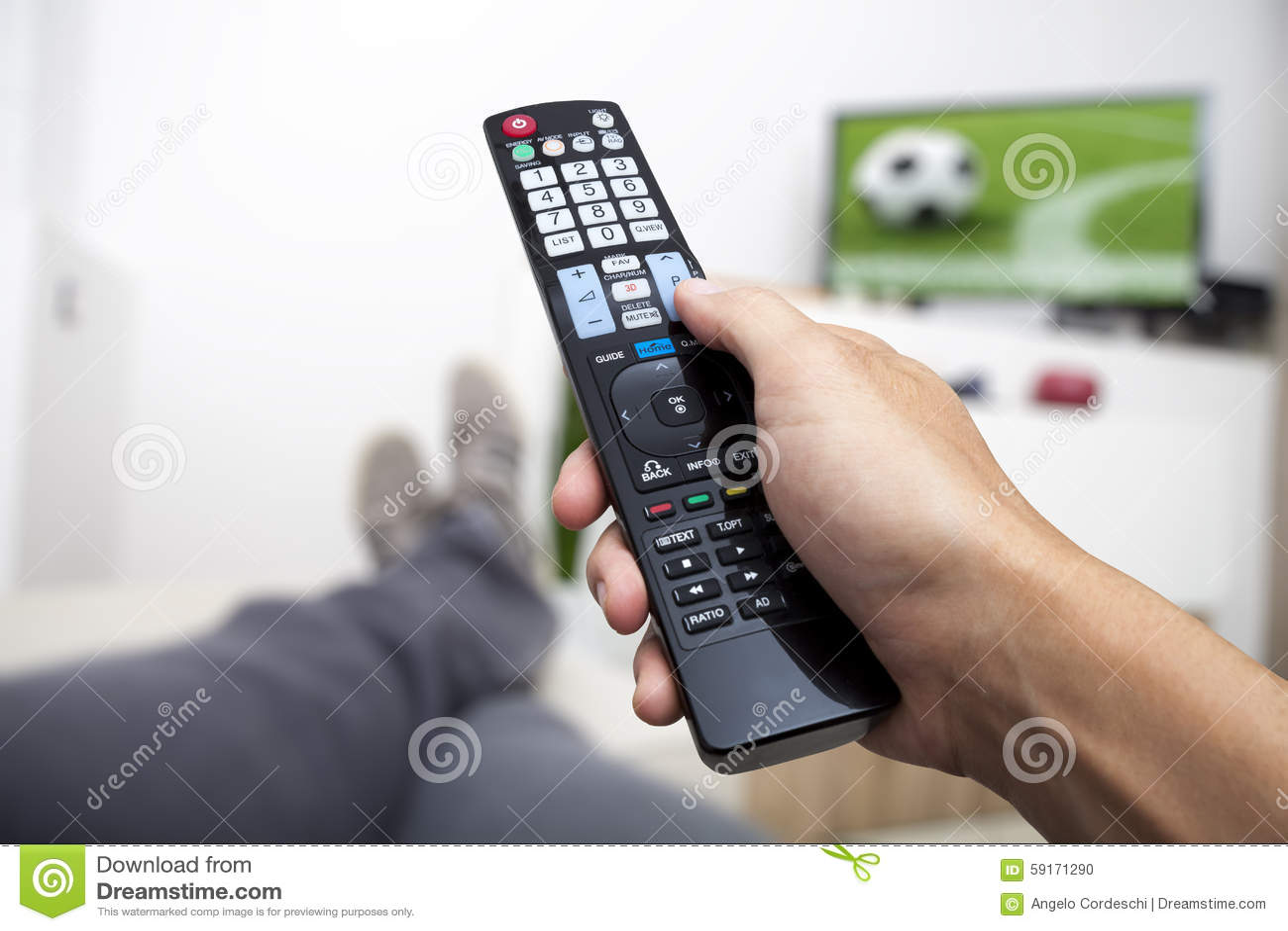 προσοχή TV χέρι ελέγχου απομακρυσμ Ποδόσφαιρο