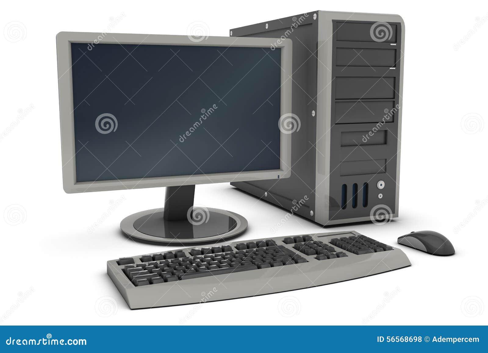 Download Προσωπικός υπολογιστής γραφείου Απεικόνιση αποθεμάτων - εικονογραφία από τεχνολογία, παρουσίαση: 56568698