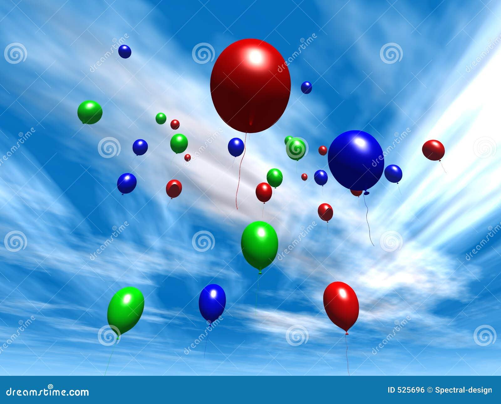 πρωινός ουρανός 2 μπαλονιών