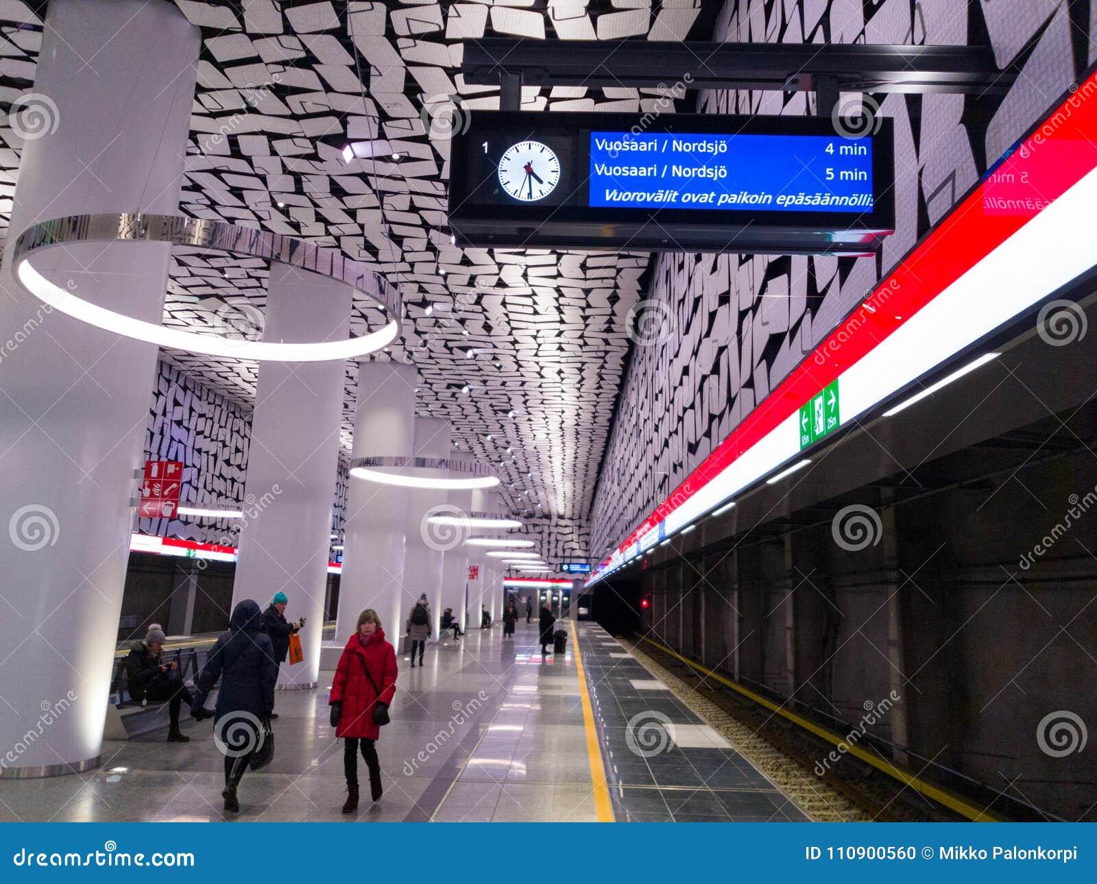 Πρόγραμμα και καθυστερήσεις μετρό Irrelugar στο μετρό του Ελσίνκι/του Έσποο