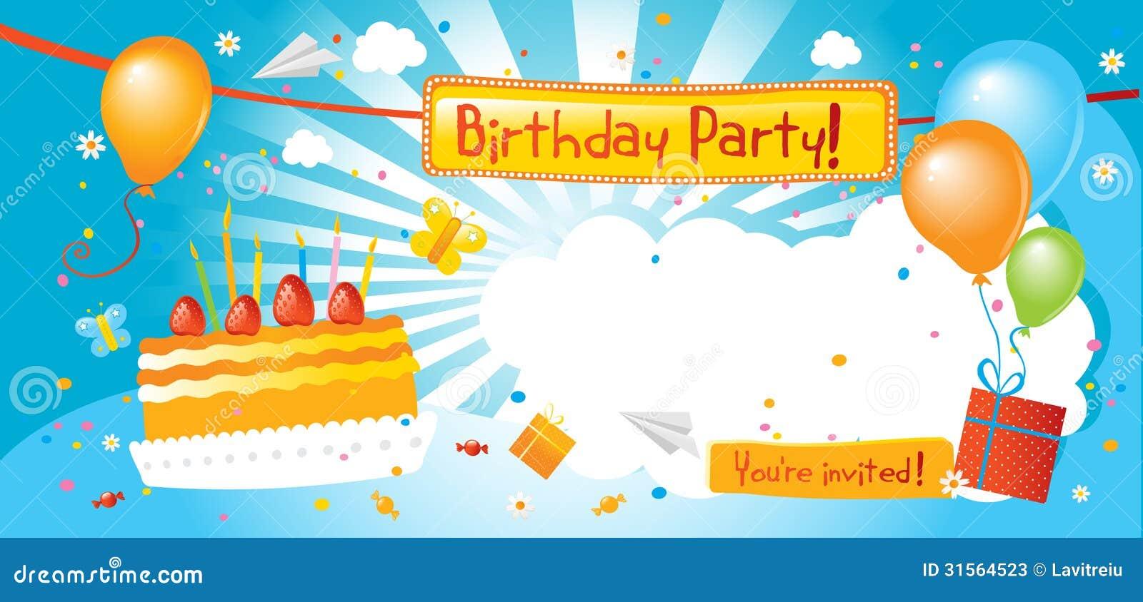Πρόσκληση γιορτής γενεθλίων
