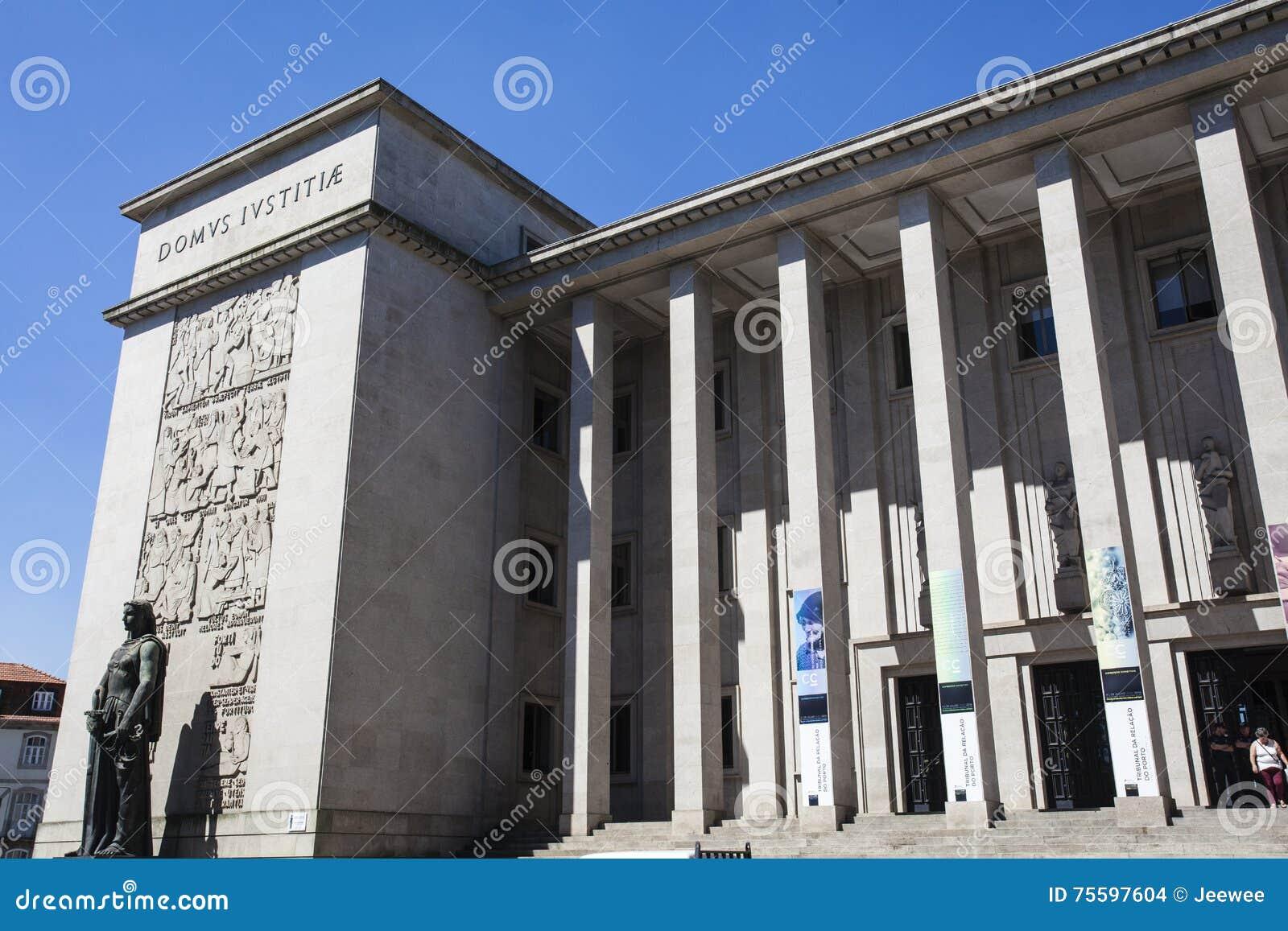 Πρόσοψη του δικαστηρίου του Πόρτο (το δικαστήριο DA Relacao κάνει το Πόρτο) στο Πόρτο - την Πορτογαλία