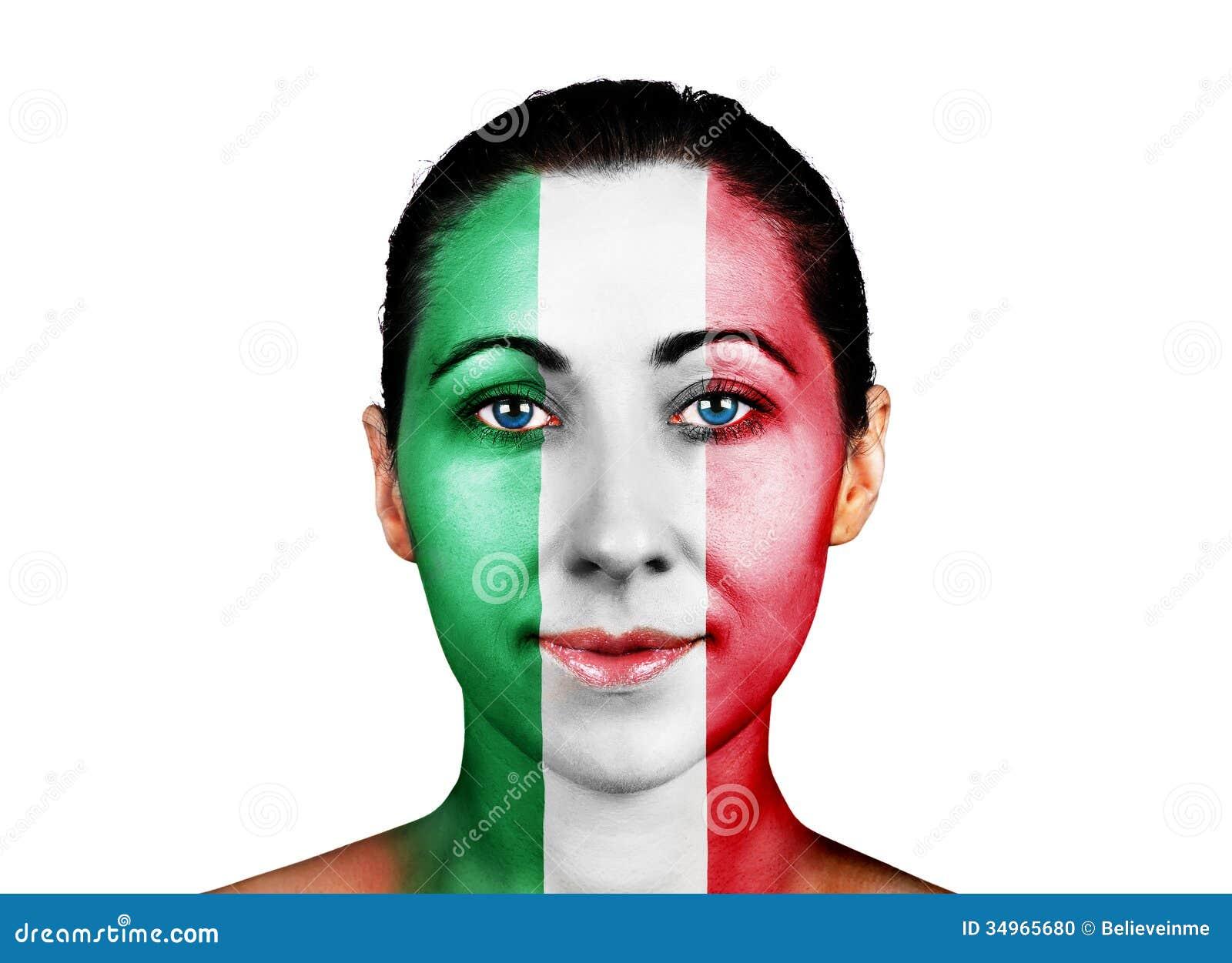 Πρόσωπο με τη σημαία της Ιταλίας