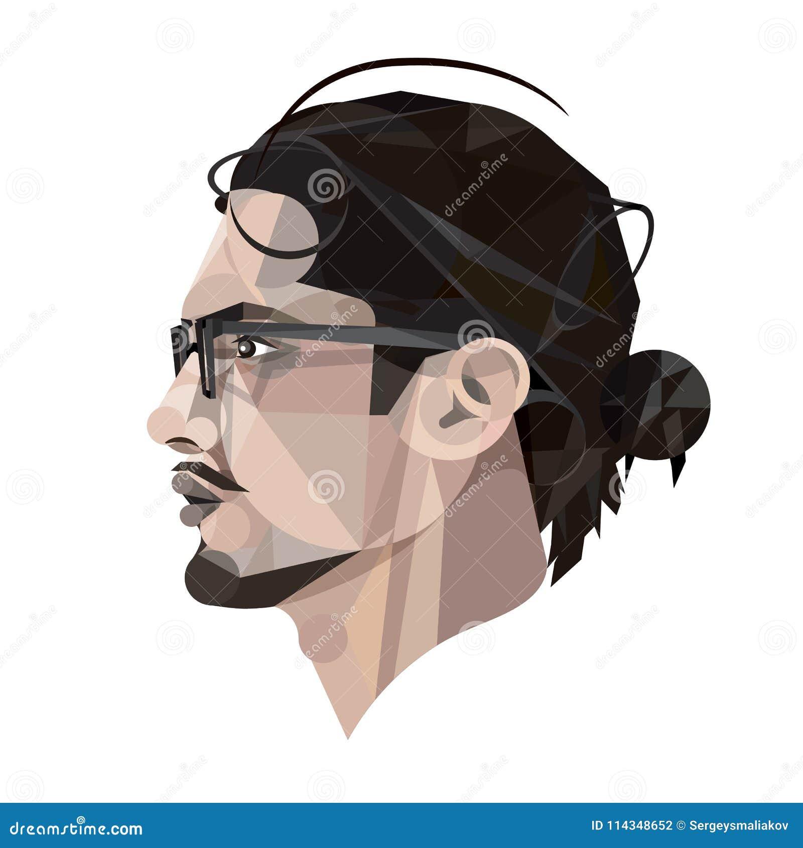 Πρόσωπο του ατόμου δεδομένου ότι το έμβλημα μπορεί ζωηρόχρωμες απεικονίσεις να σας χρησιμοποιήσει